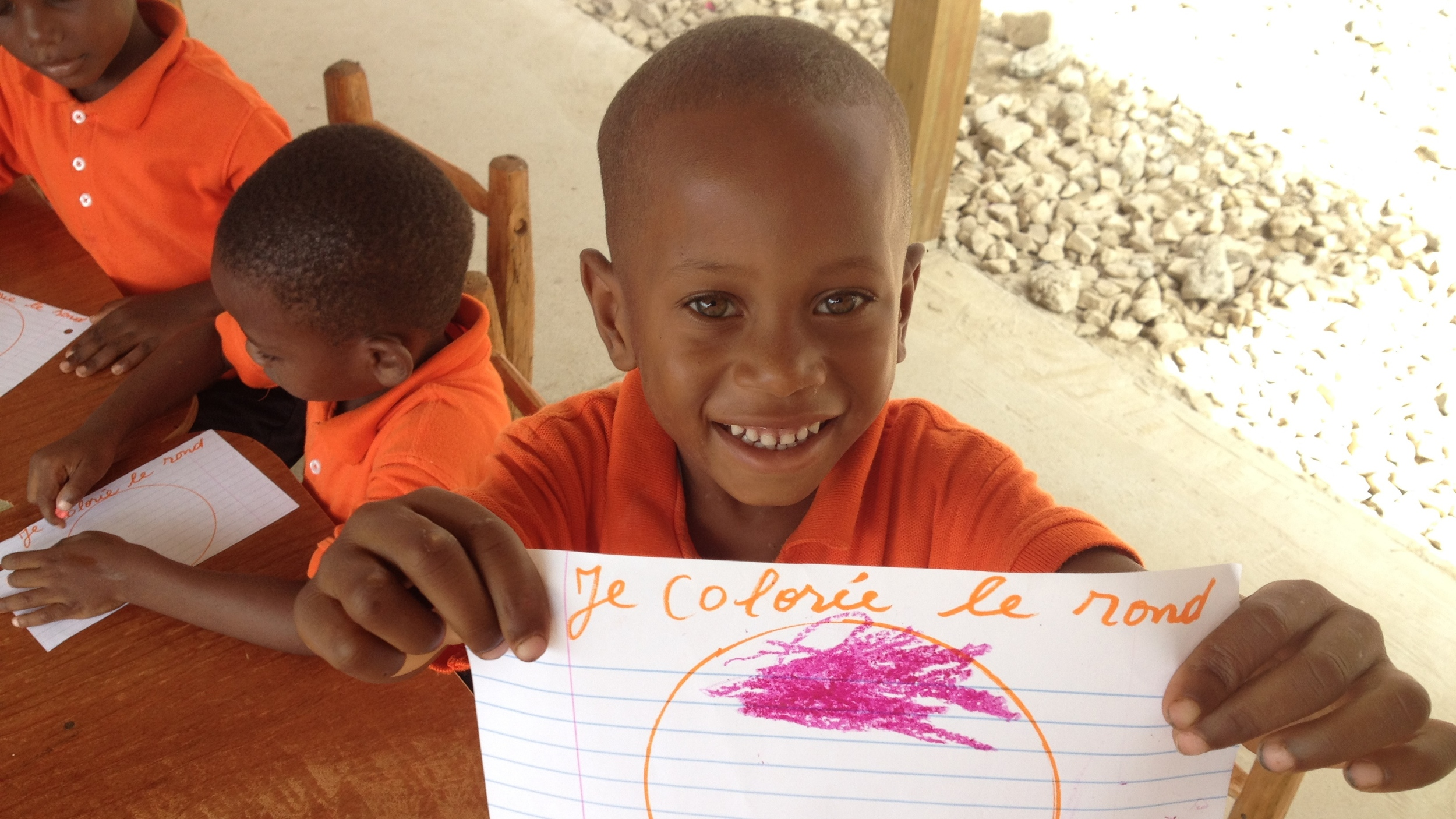 Your birthday pledge money goes directly to providing classroom space for Reginal and our students!