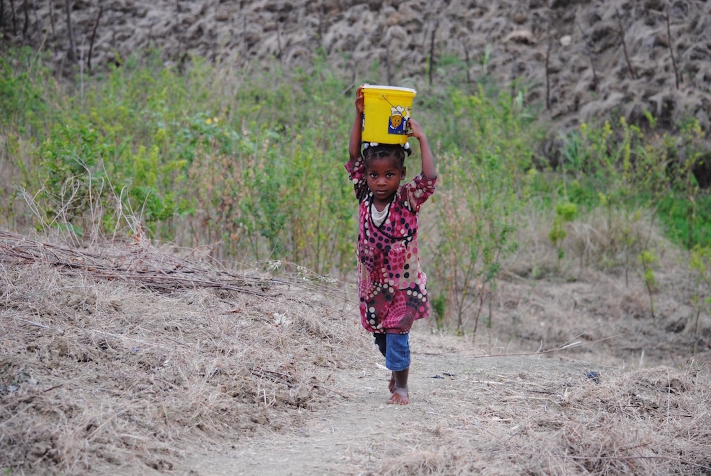 The average family in Project 117's zone walks 2-4 miles per day to retrieve their drinking water