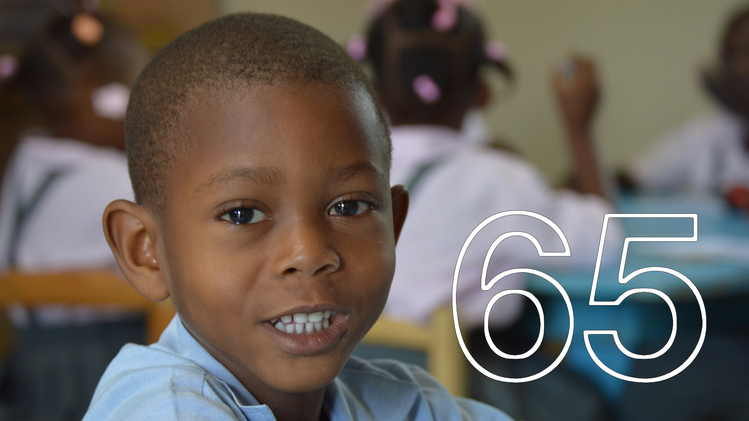 Wiskenley, Kindergarten 3 Student (2016-17)  65 SPONSORS MADE A YEAR FULL OF LEARNING, LAUGHING, AND HOPE THROUGH EDUCATION POSSIBLE FOR 90 STUDENTS.