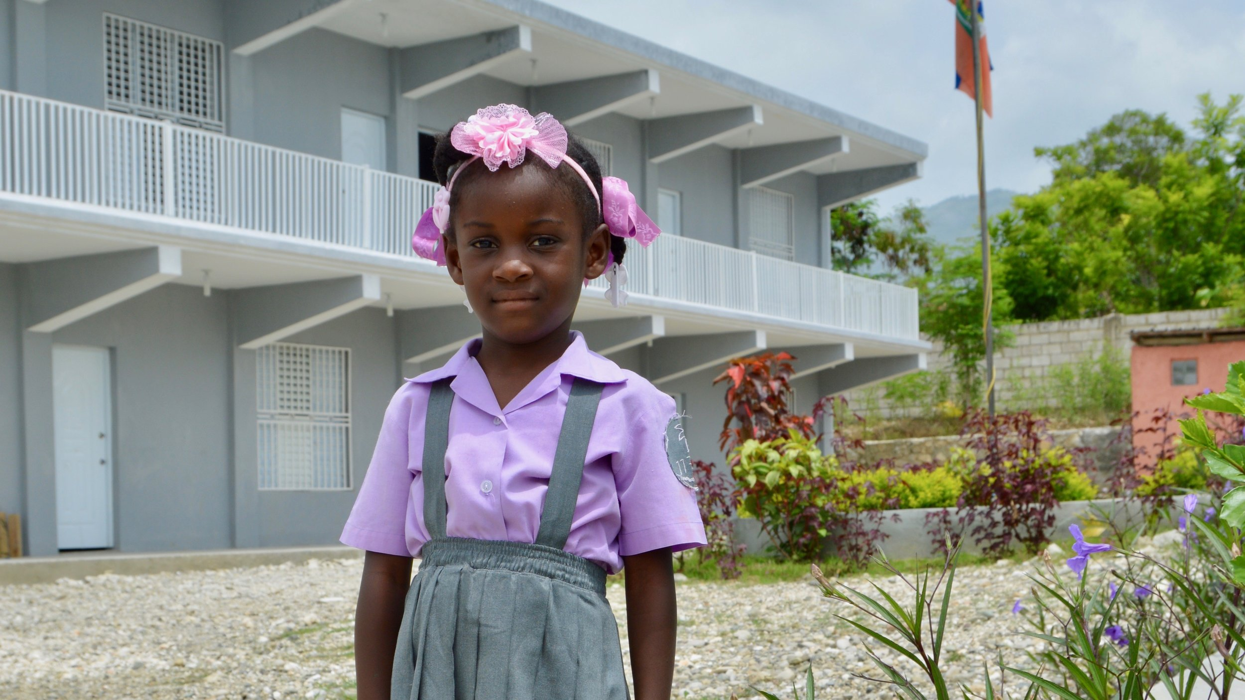 Haiti - We're serving 240 students and operating two campuses.