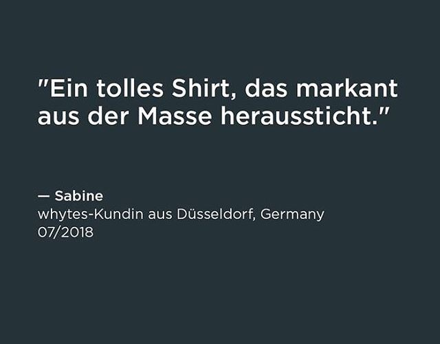 Great compliment on our #perfectWhiteTshirt #madeInGermany. Thx. Sabine!