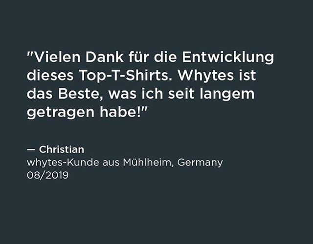 """Beautiful love letter from Christian, a regular whytes customer: """"Thank you very much for creating this great T-Shirt. Whytes is the best I've worn in a long time."""" #perfectWhiteTshirt #madeInGermany #GoToBrand #menswear #mensEssentials"""