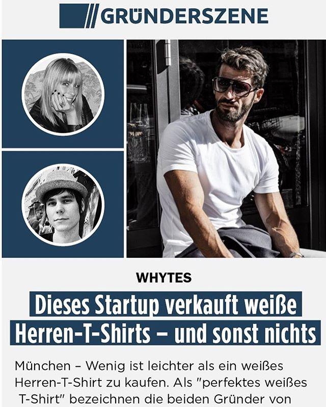 🙌 Danke @gruenderszene für das 1a Unternehmensporträt 📸 von @whytesco  und unsere beiden Gründer Nadia & Thomas - #startUp #muenchen #perfektesWeissesTshirt 🎉 - bit.ly/whytes-gruenderszene