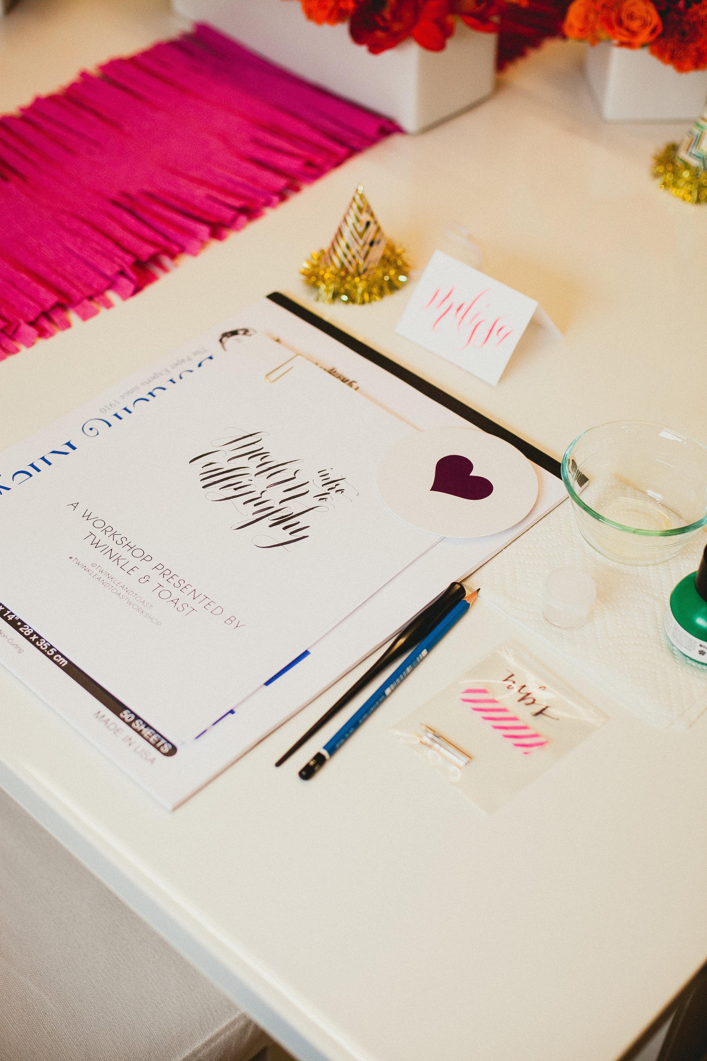 Calligraphy workshop in San Diego