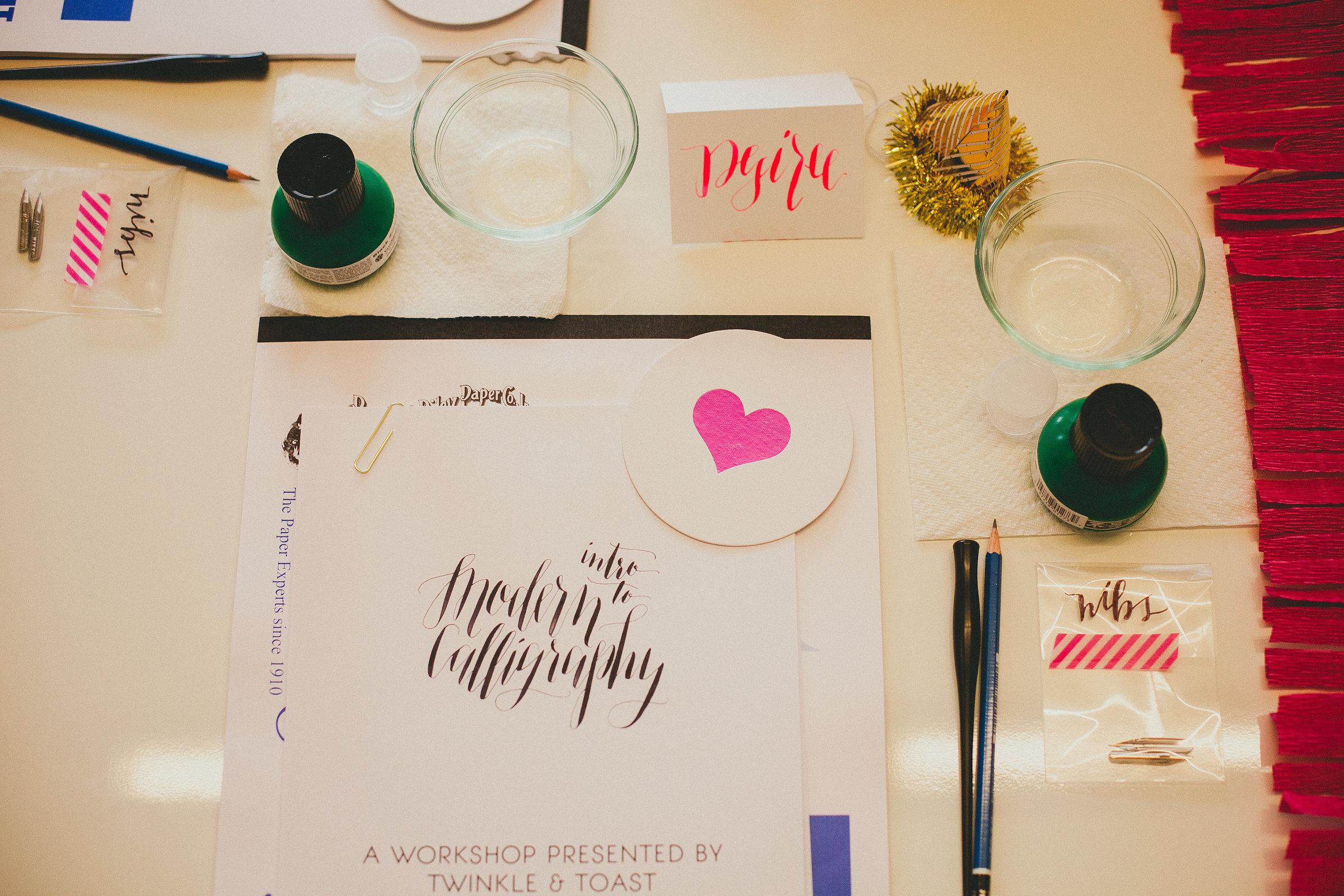 California calligraphy workshop