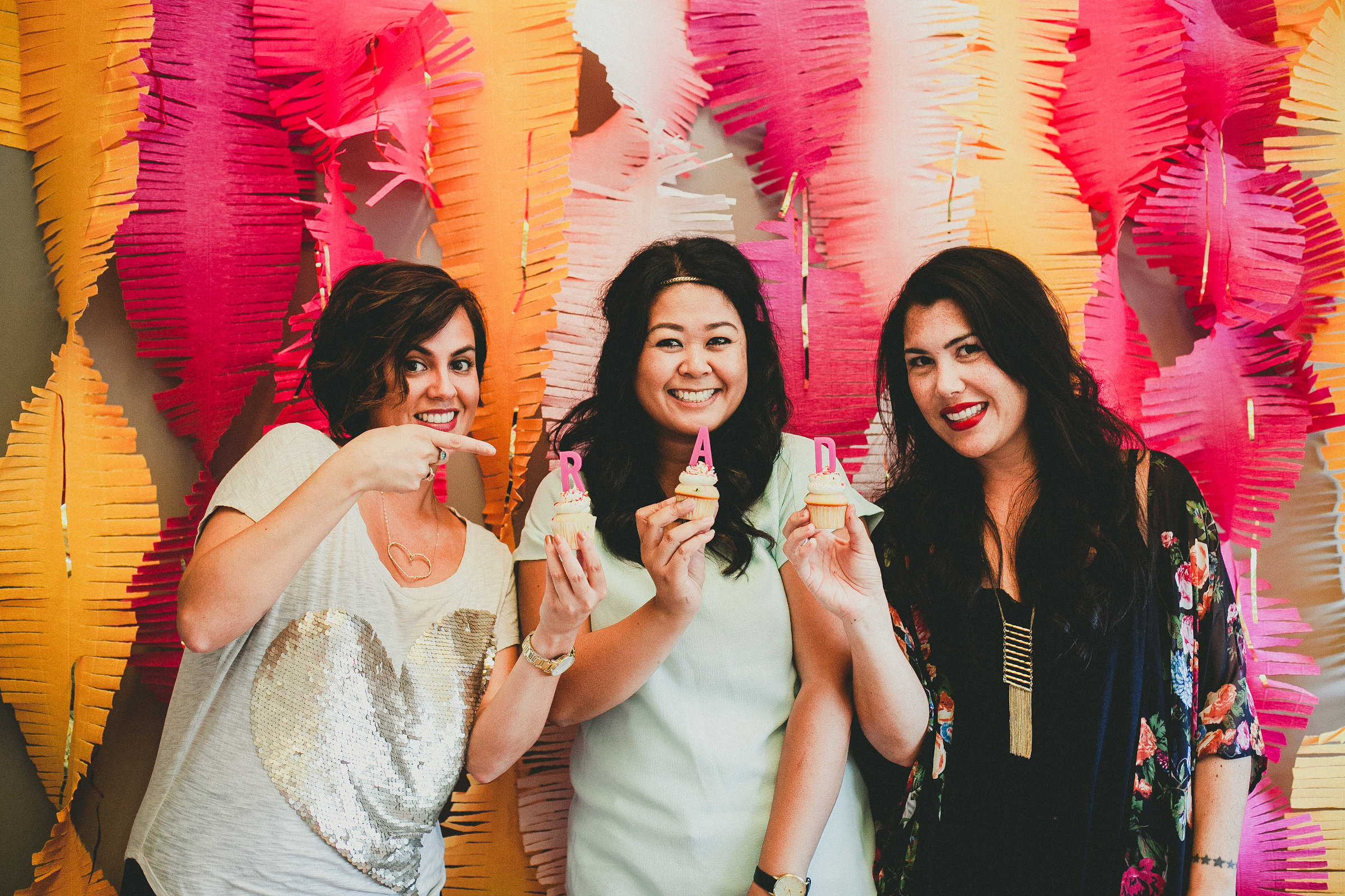 Nichole of Nic Roc Designs, Melissa of Melissa Biador Photography, Stevi of Hey There, Cupcake!