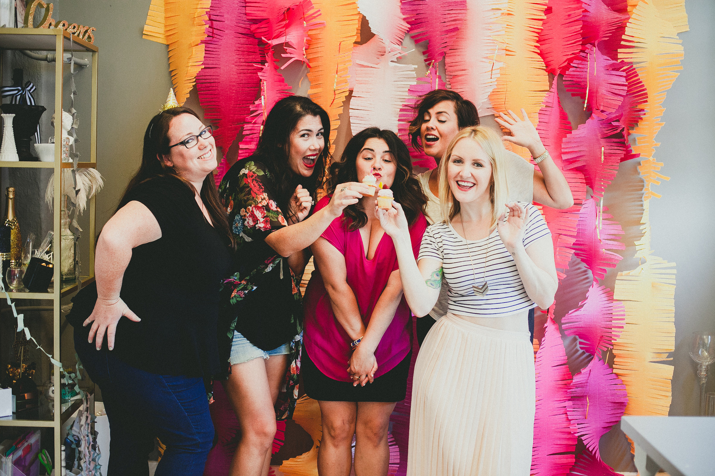 Desiree of Penny Blooms, Stevi of Hey There, Cupcake!, Danielle of Francine Ribeau Events, Nichole of Nic Roc Designs, Taryn of Twinkle & Toast (Melissa on the camera!)