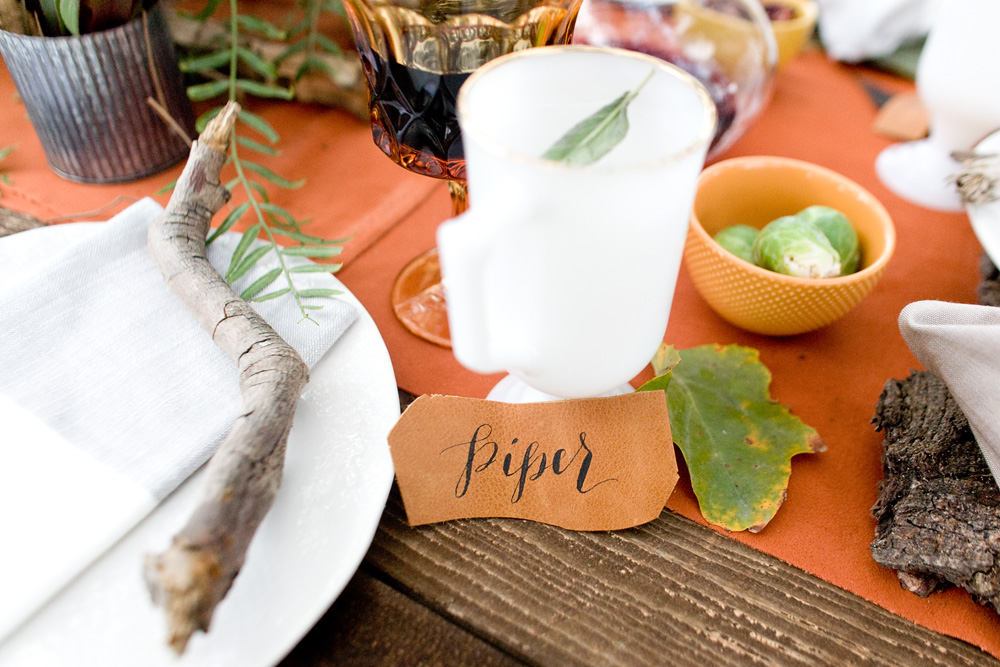 leather place cards