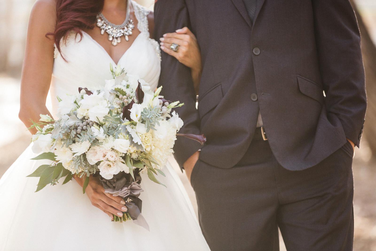 romantic gray wedding