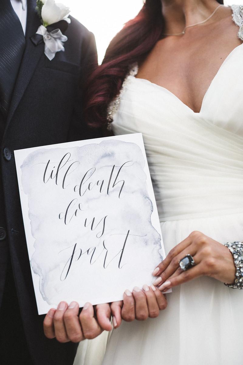 till death do us part wedding