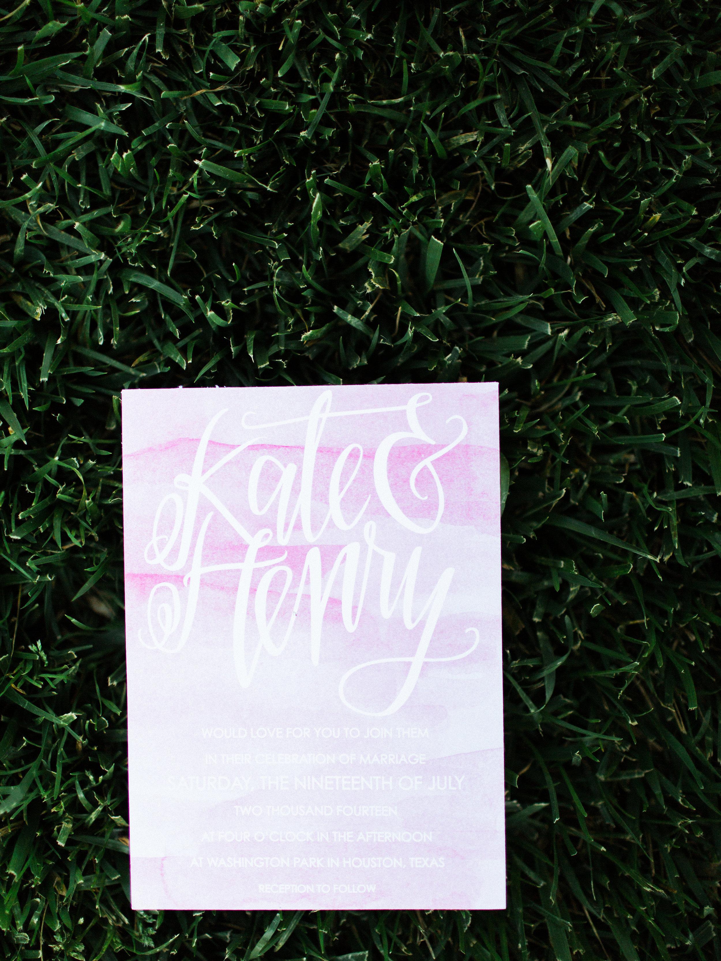 Watercolor wedding paper goods