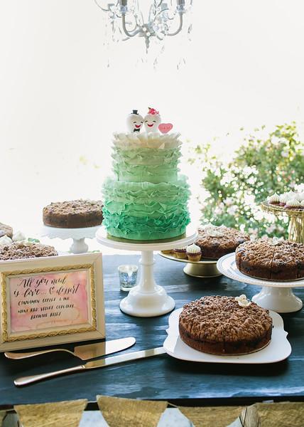 San Diego wedding dessert table