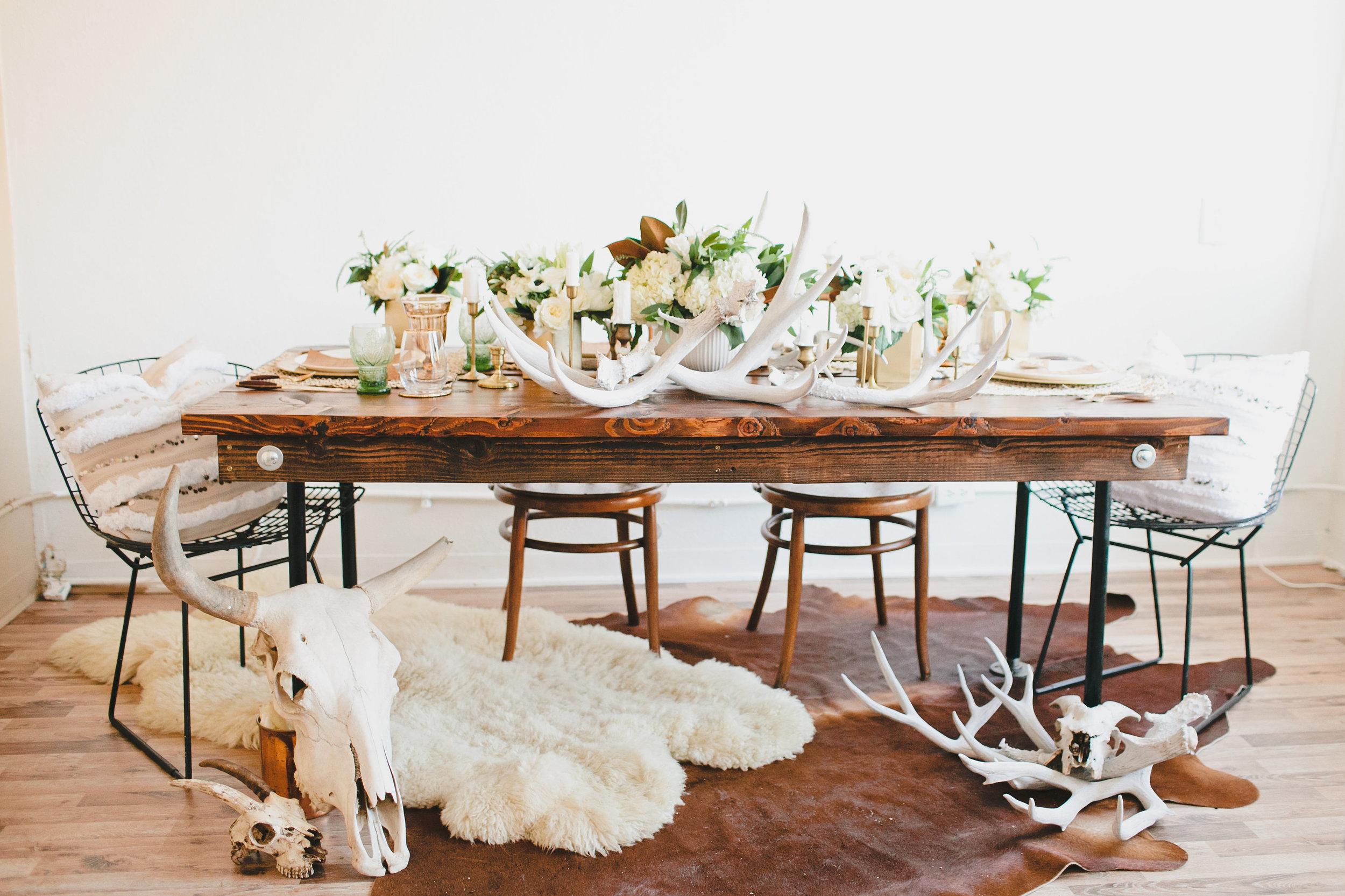 Midcentury Christmas table