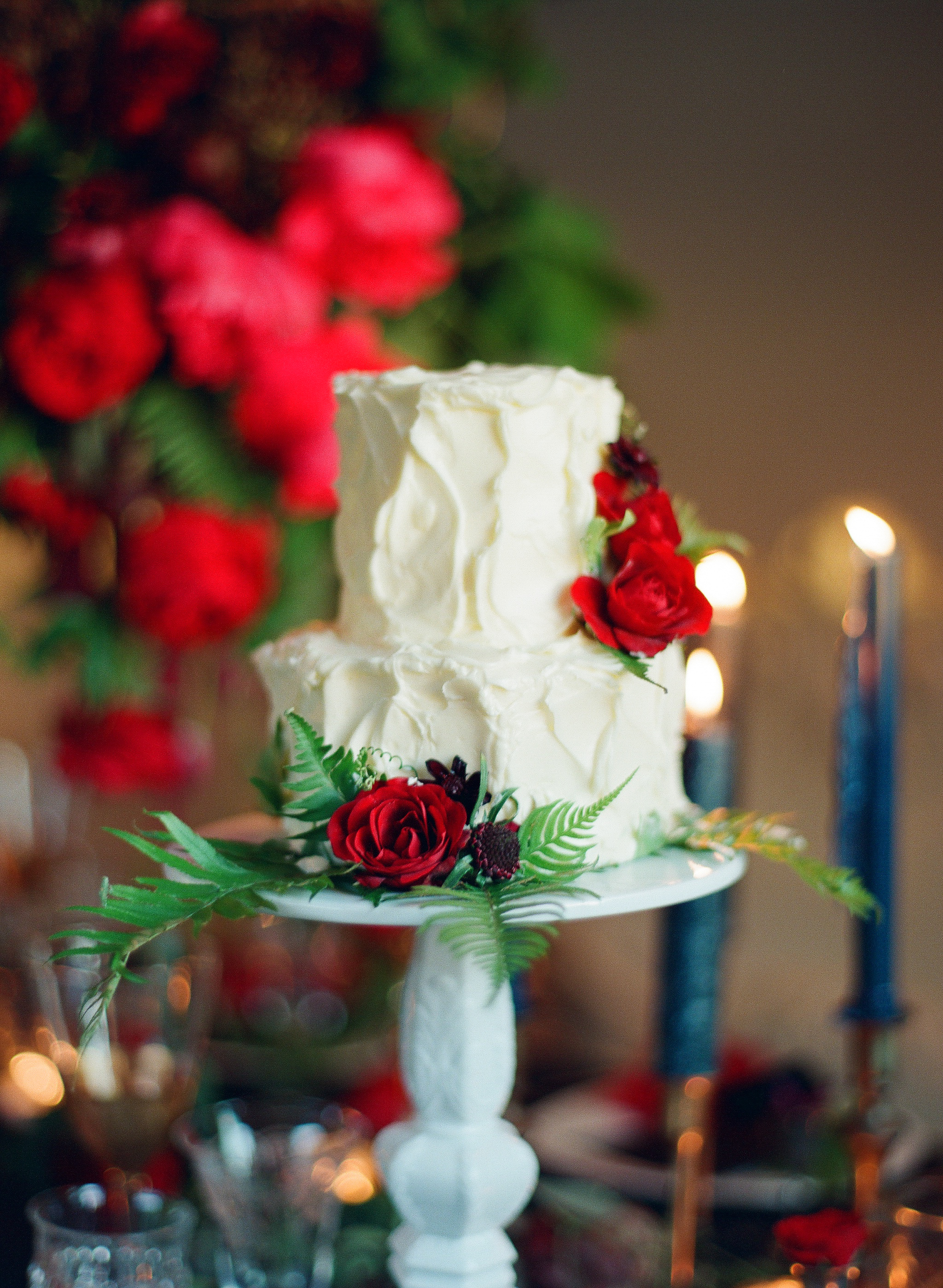 Marsala garden wedding cake