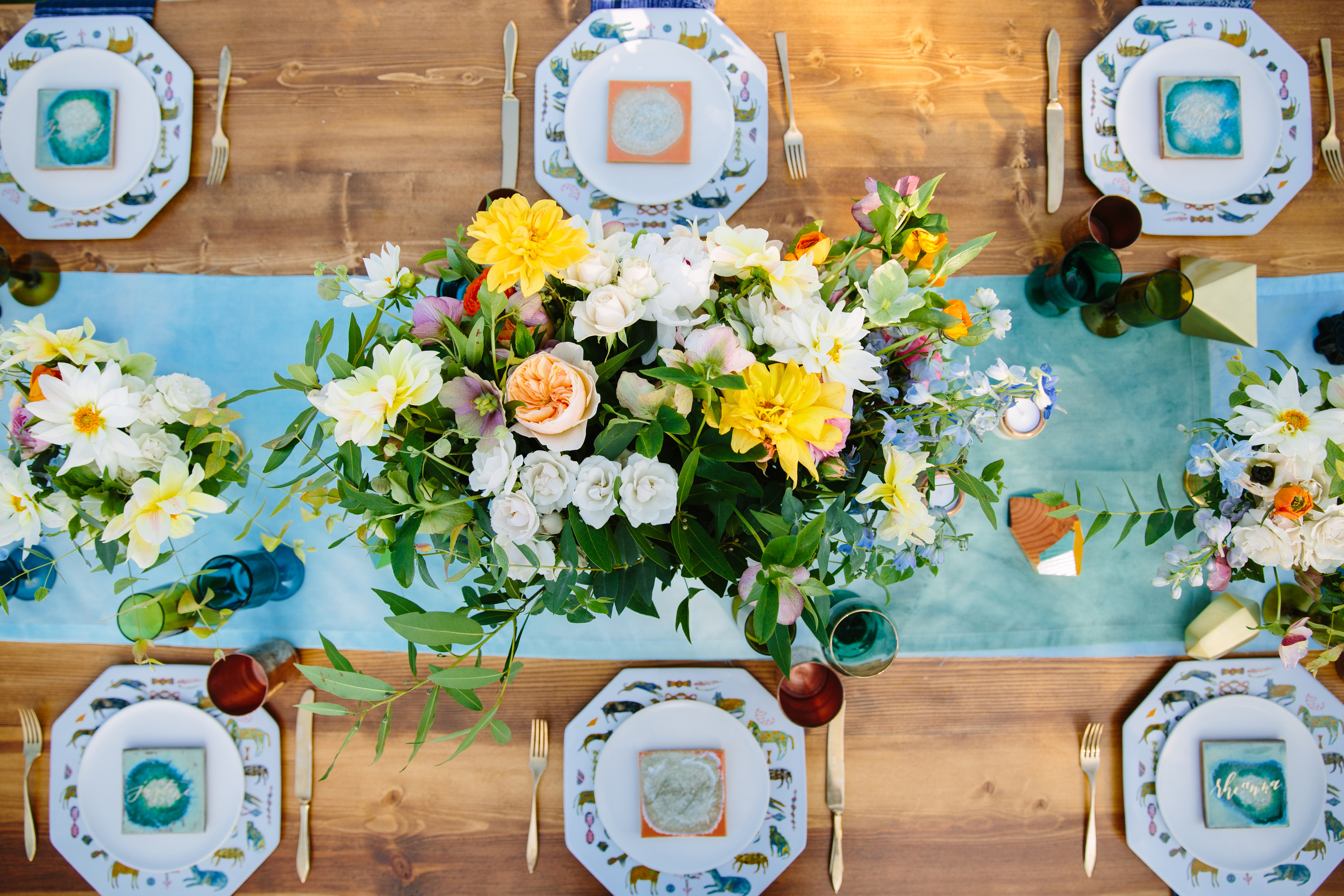 turquoise and orange baby shower