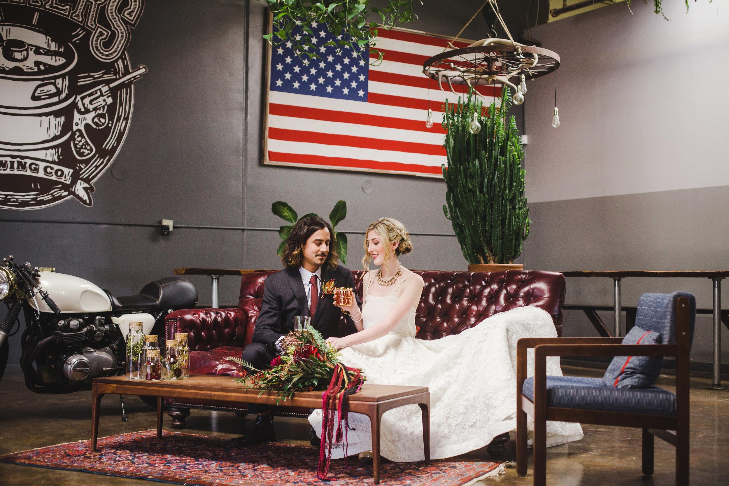 Brewery inspired wedding