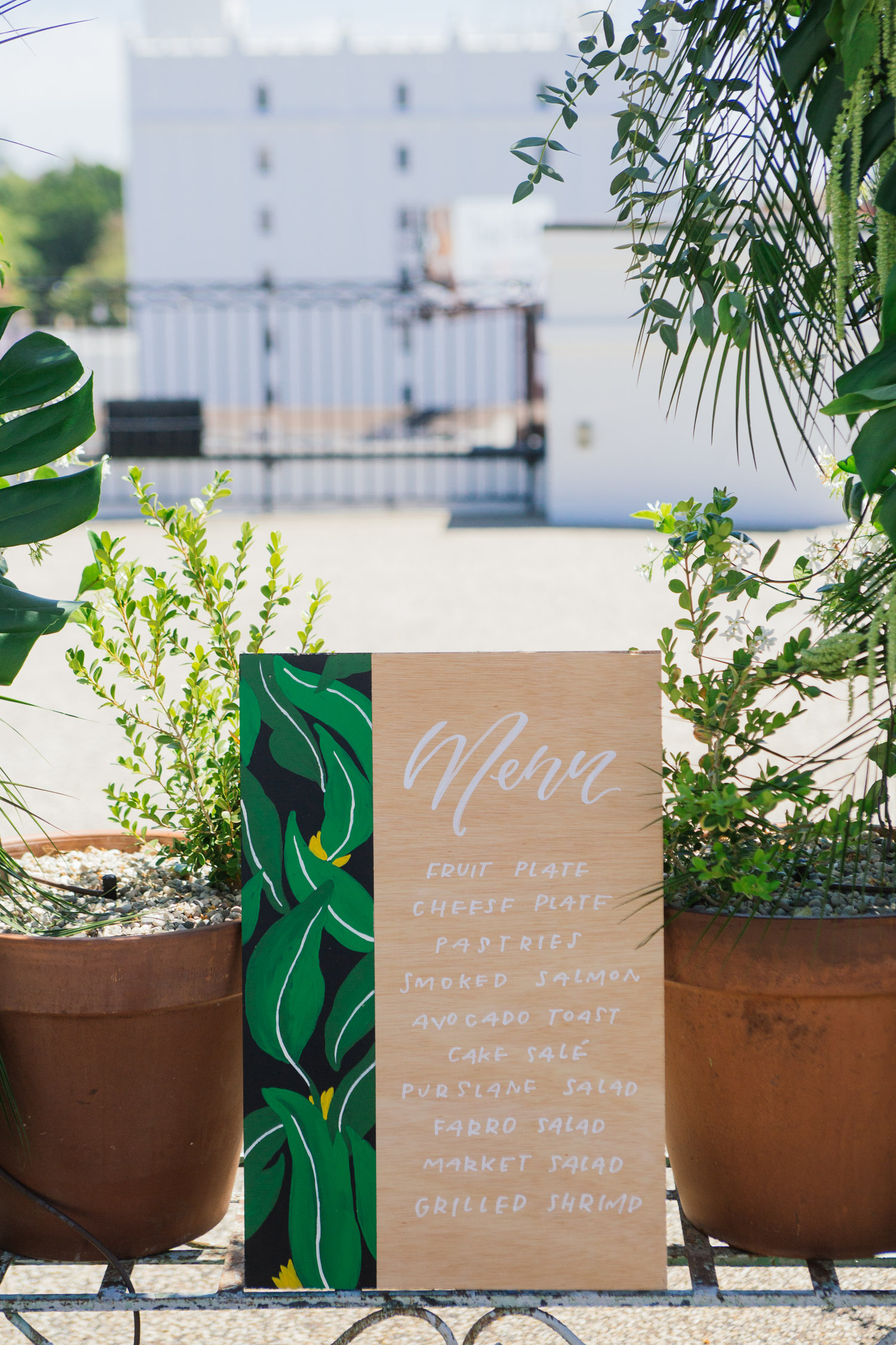Bridal shower menu sign