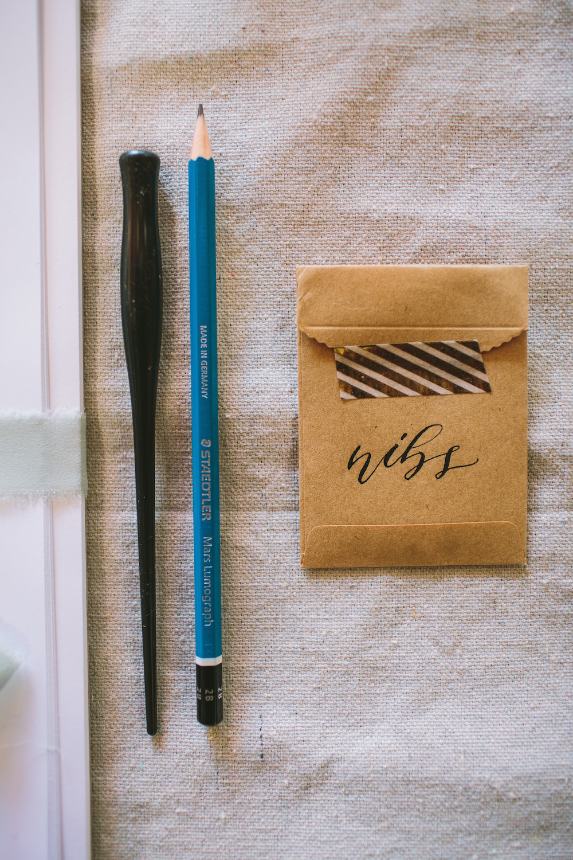 Calligraphy workshop tools