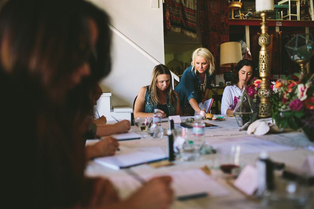 San Diego modern calligraphy workshop