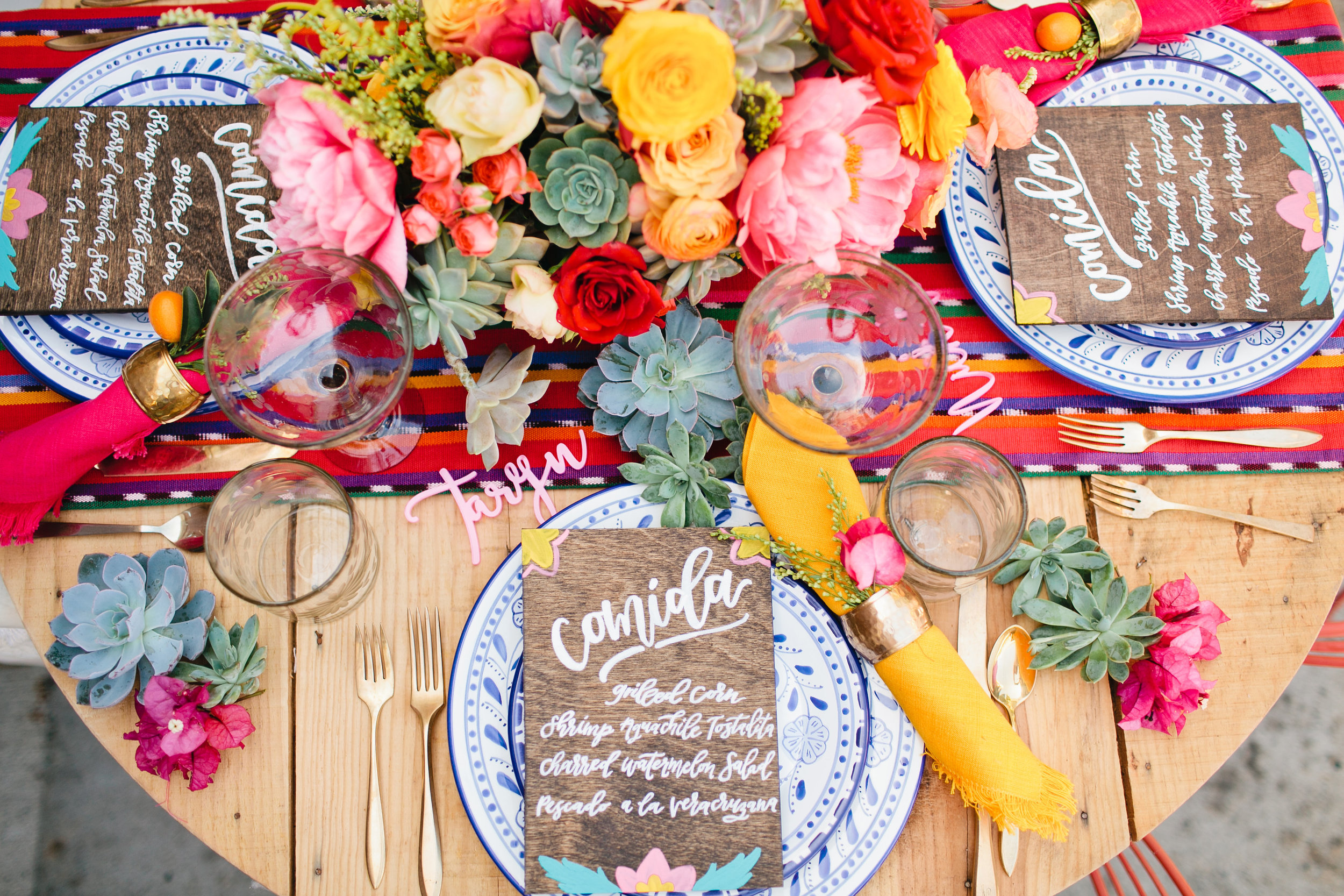 Mexican inspired tablescape