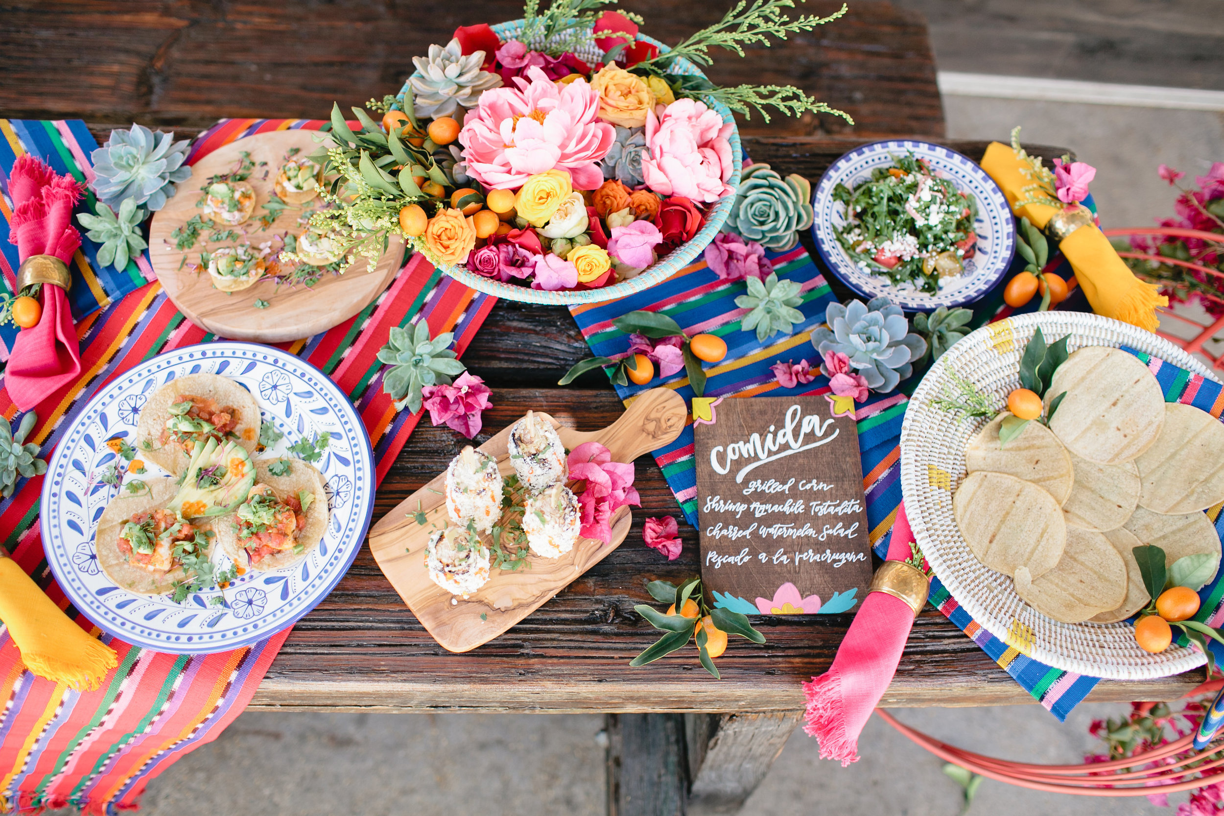 colorful Mexican inspired party