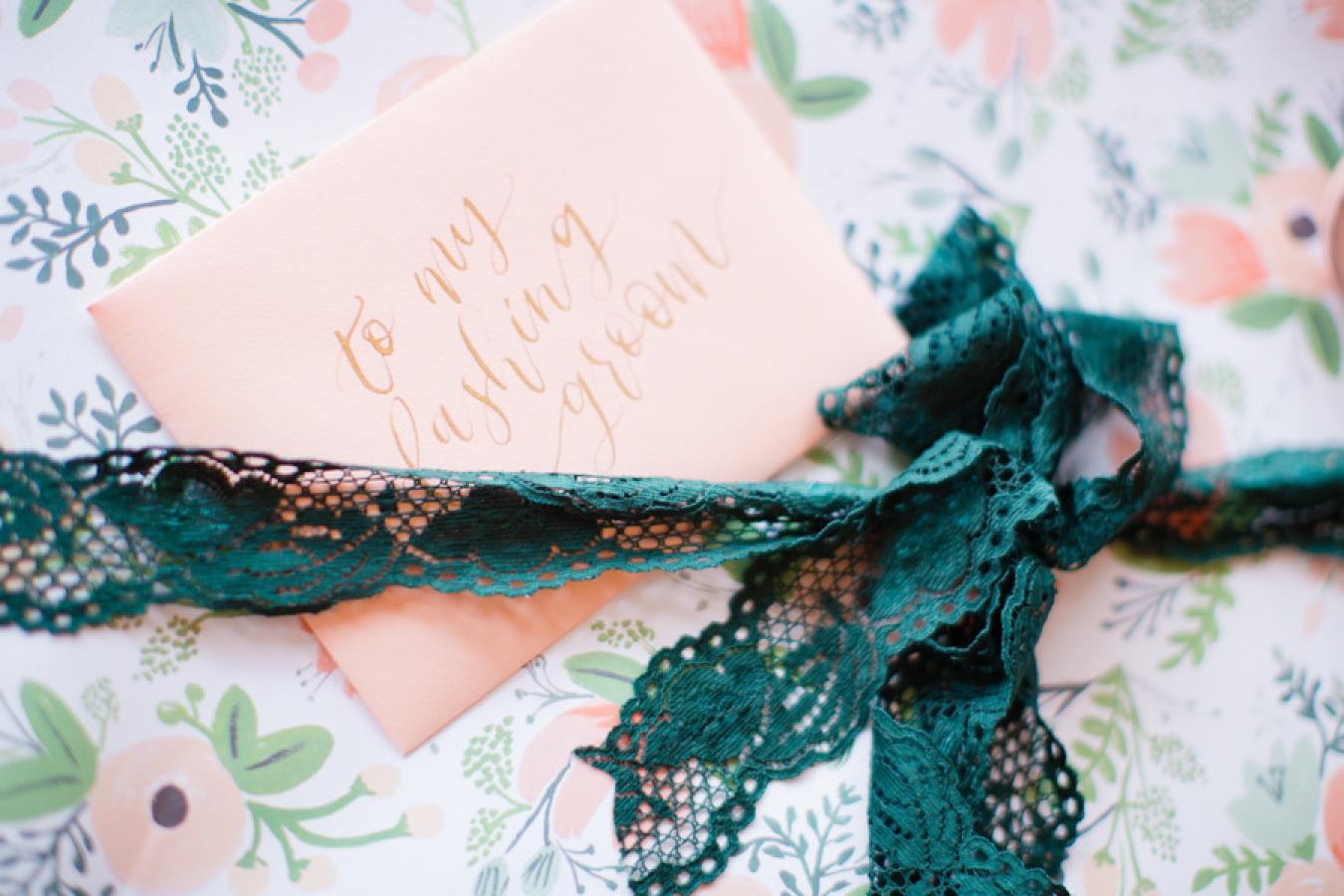 Bride and groom wedding present