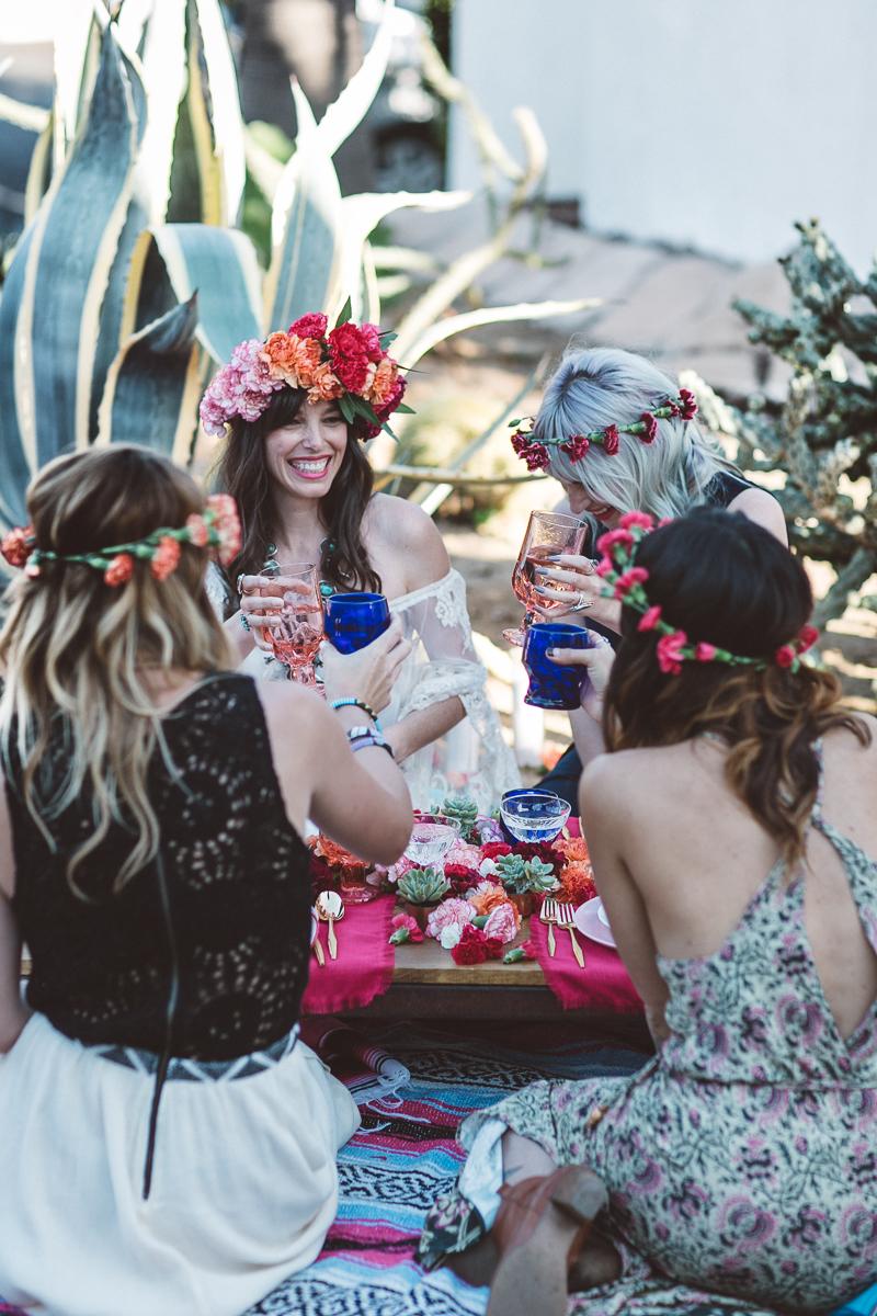 Bohemian bridal shower fiesta