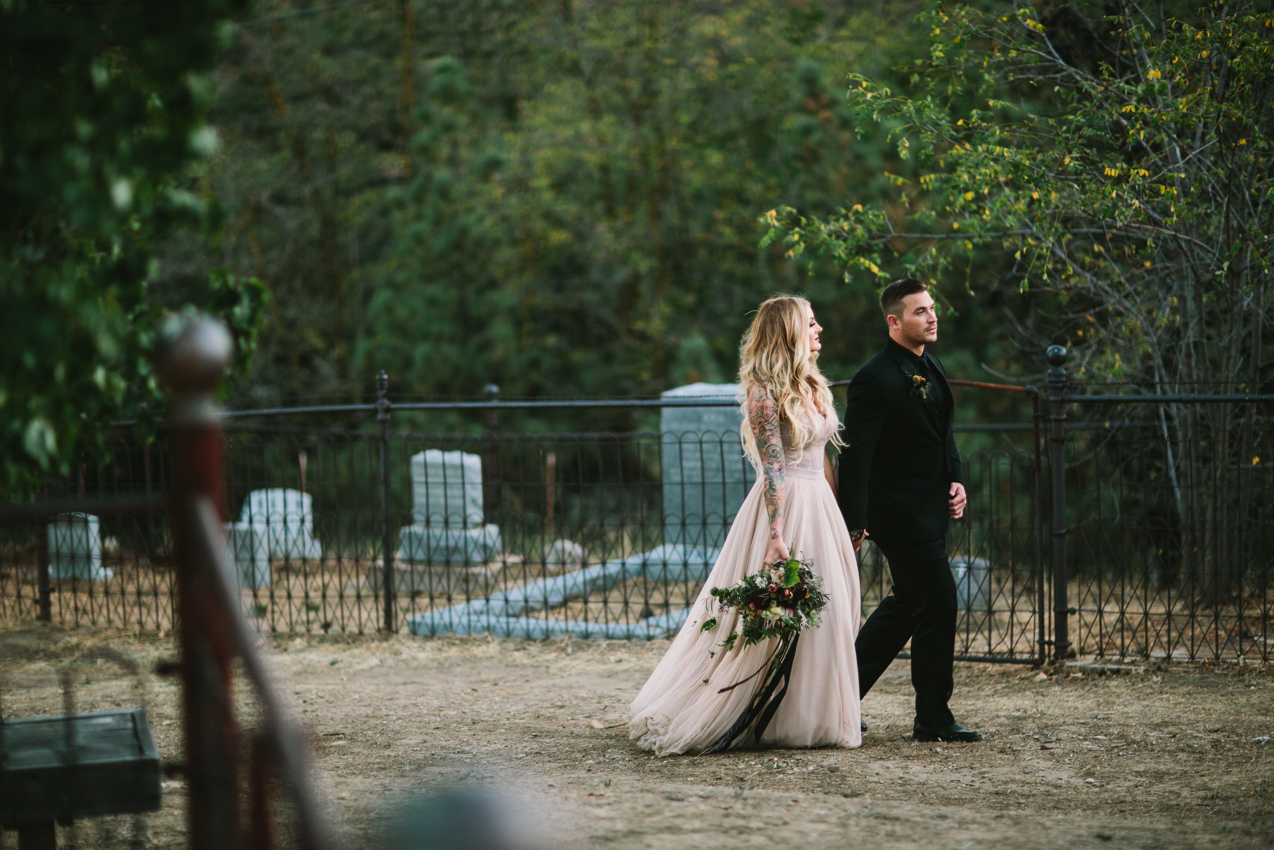 Cemetery wedding inspiration