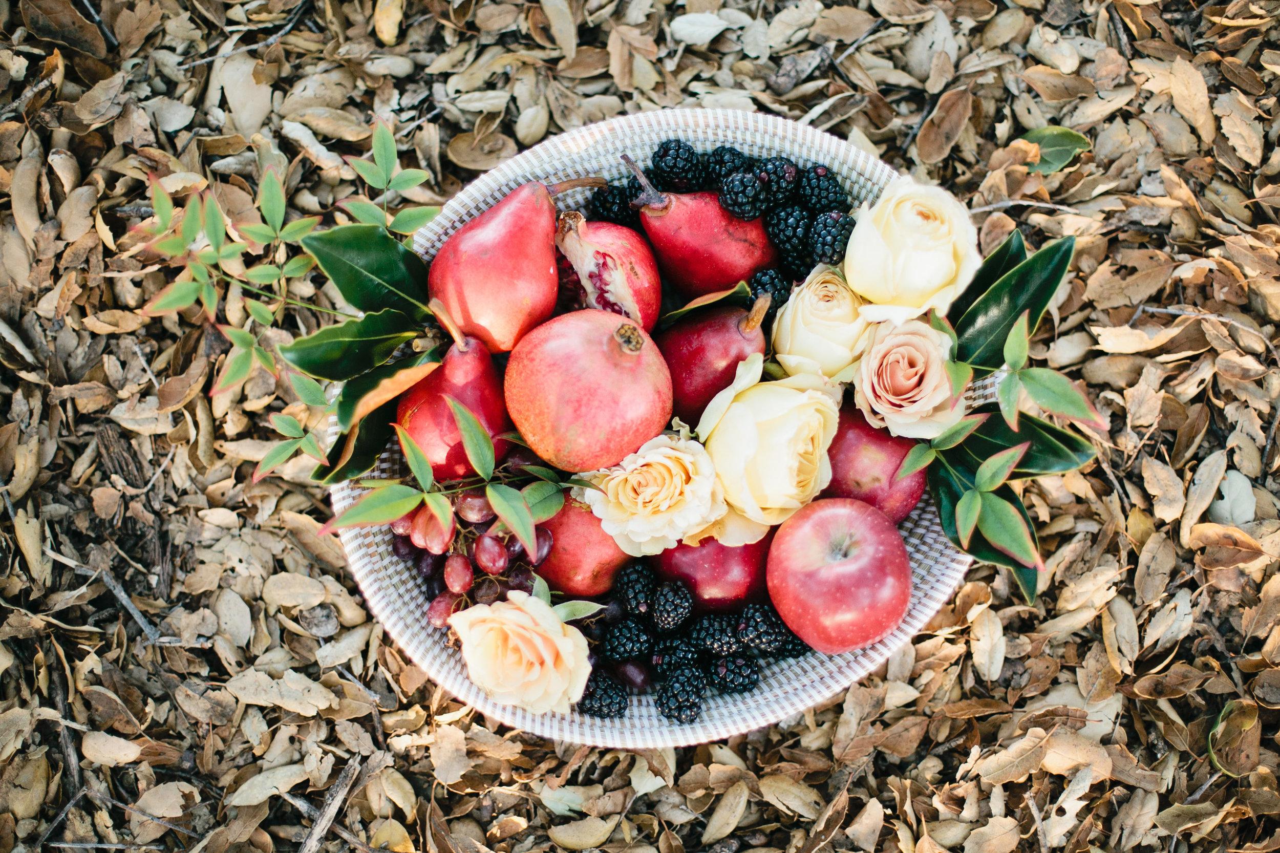 Thanksgiving fruit bowl