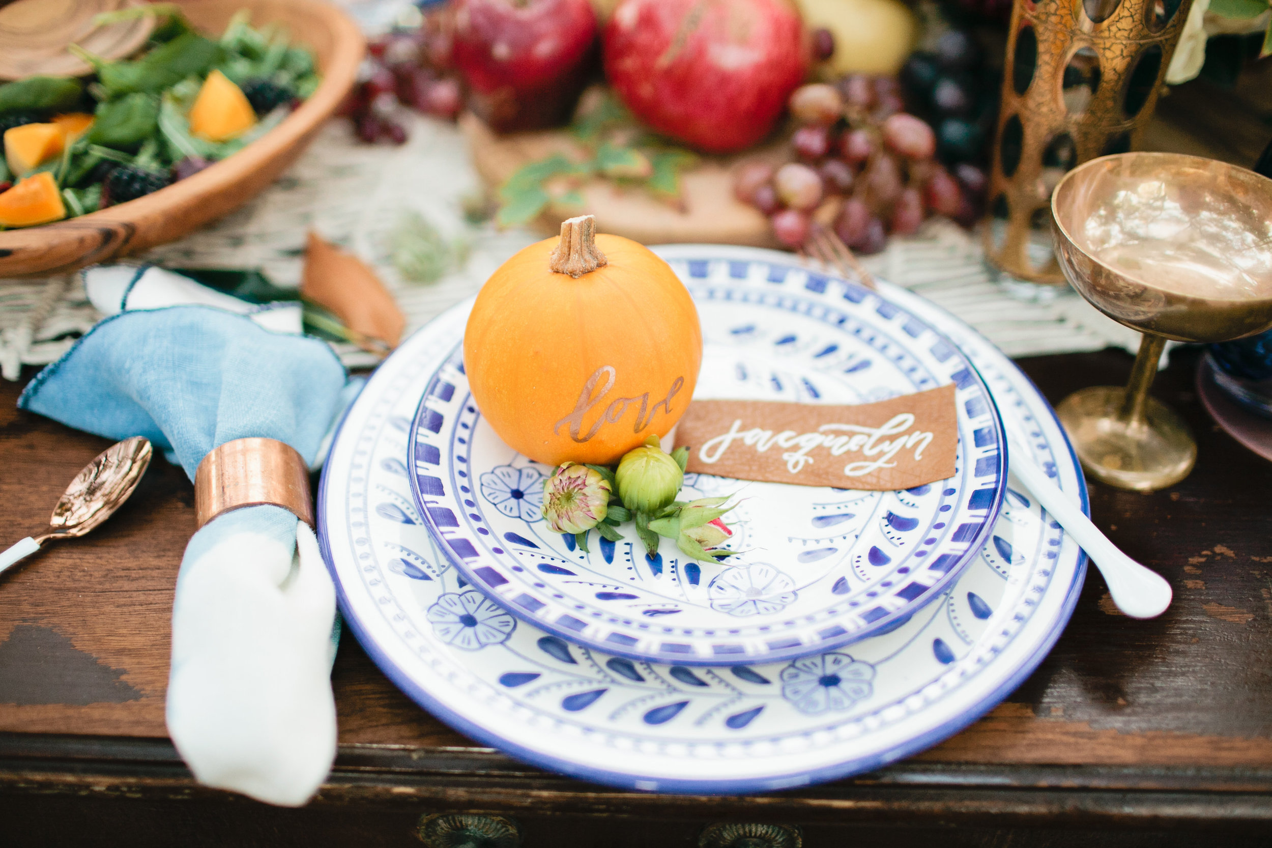 Thanksgiving outdoor tabletop