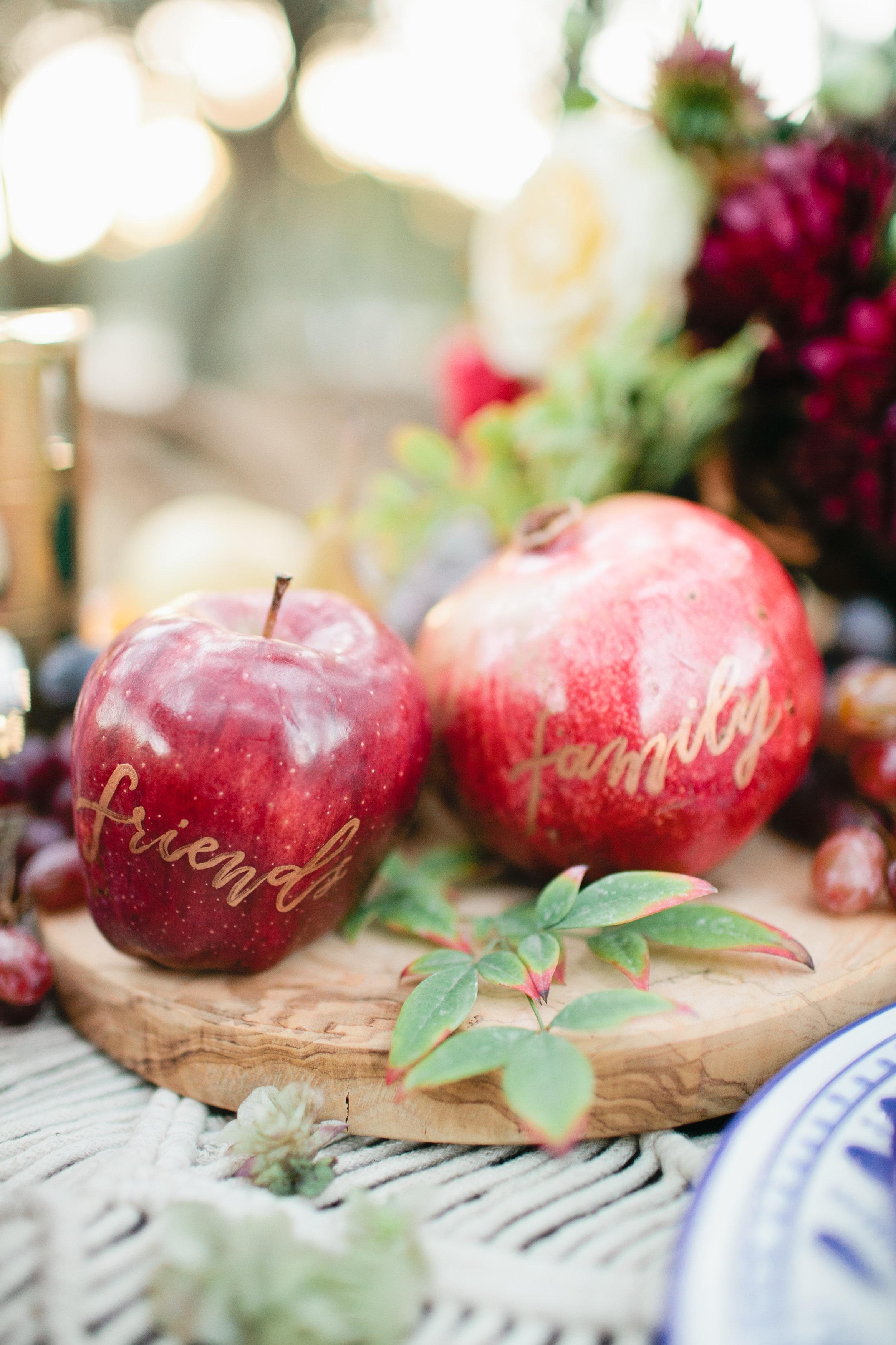 Thanksgiving inspired fruit display