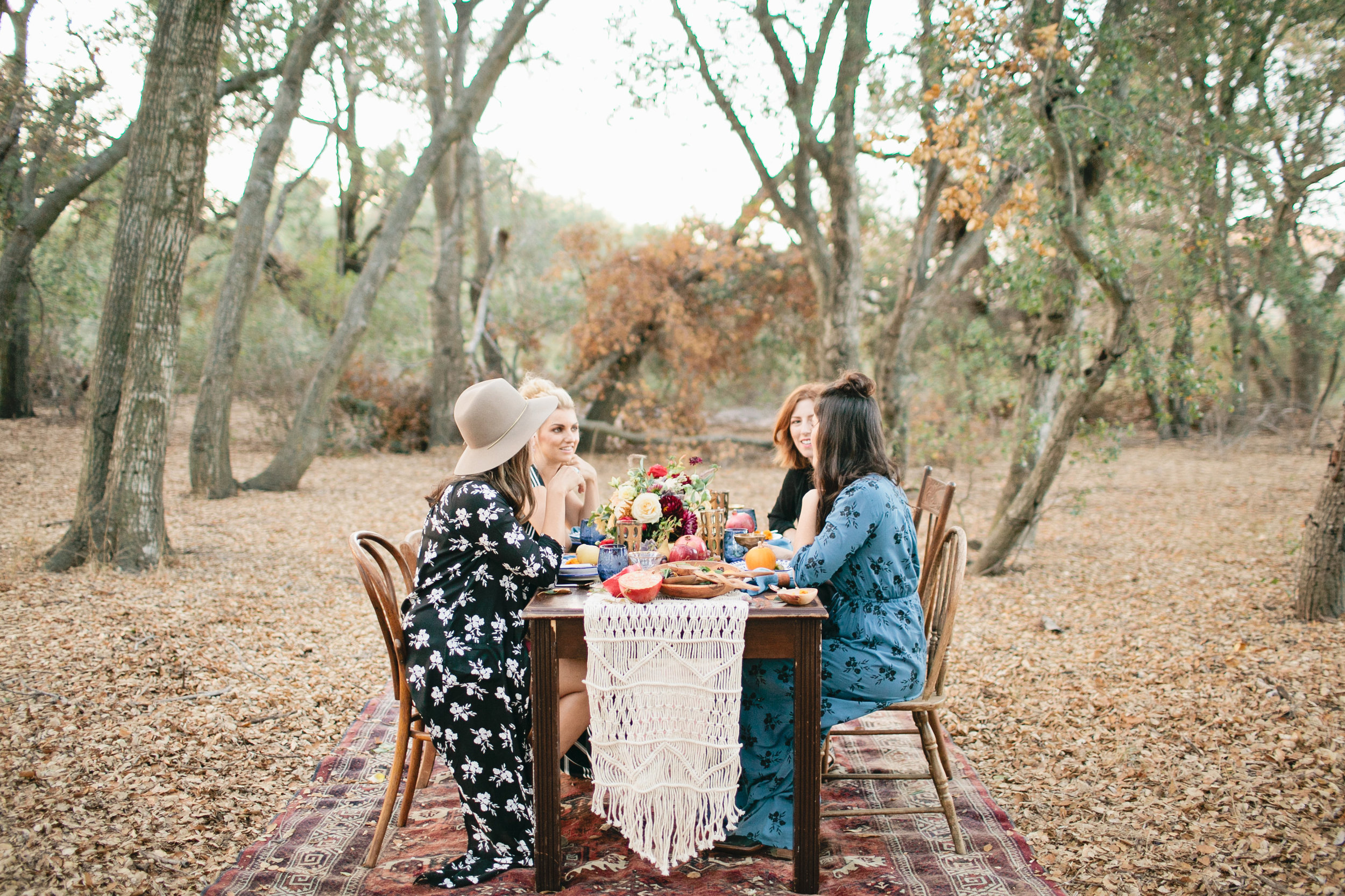 Girls Friendsgiving celebration