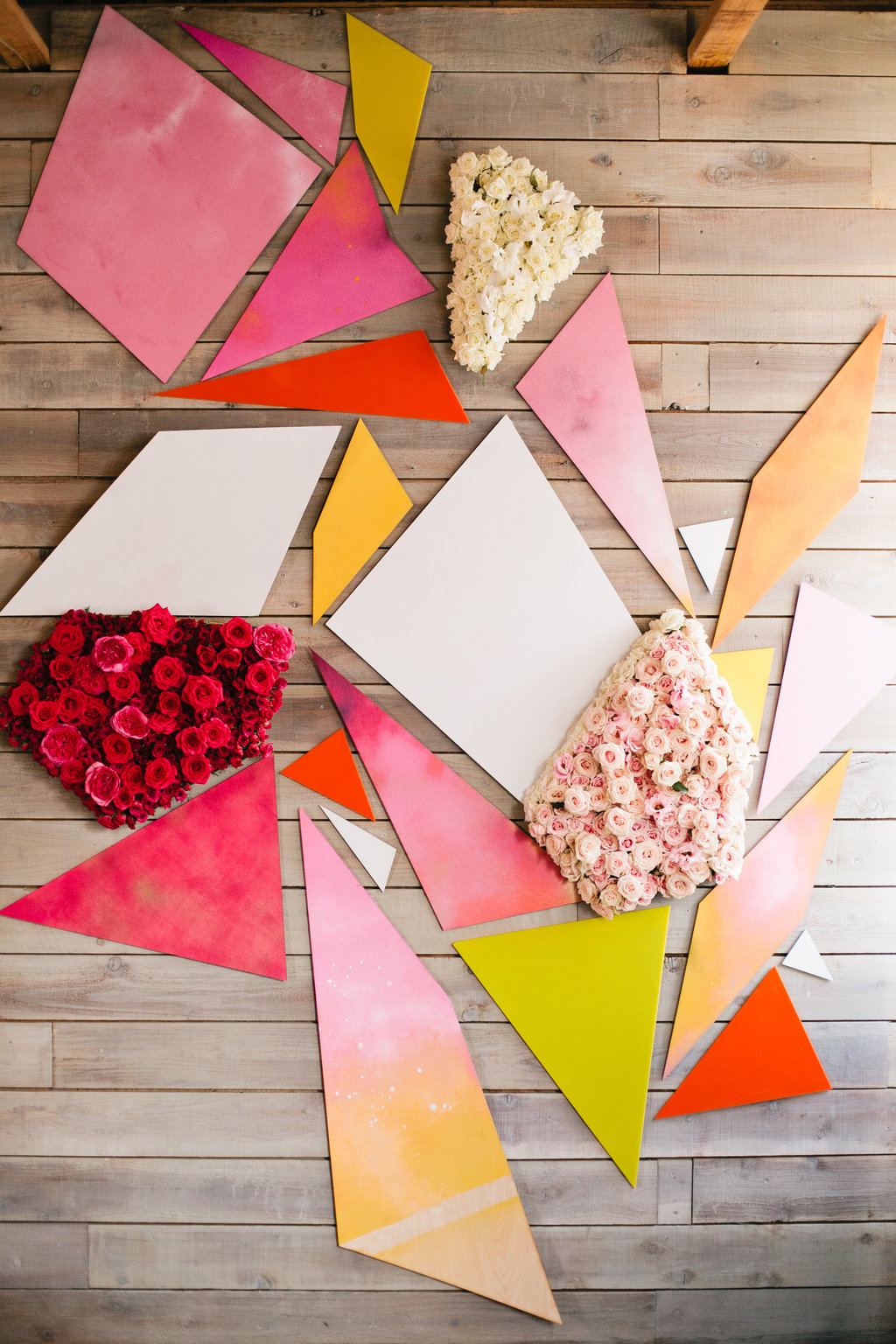 geometric floral backdrop