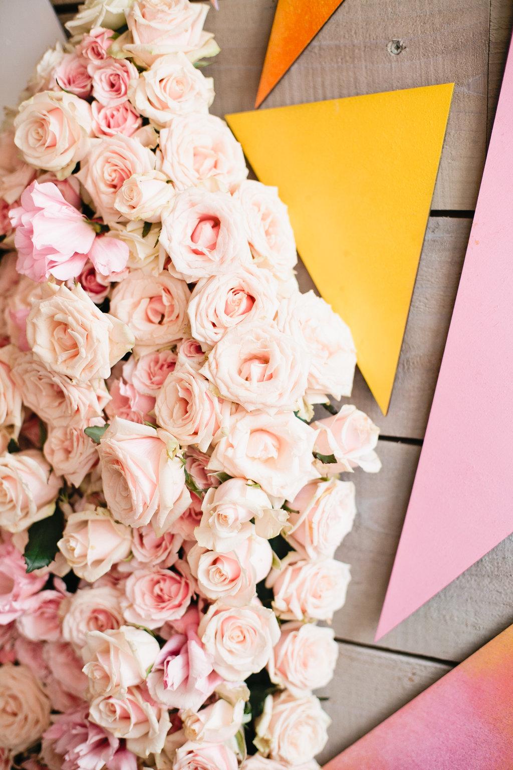 geometric floral pieces