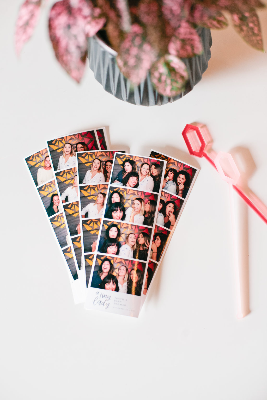 baby shower photo booth strips