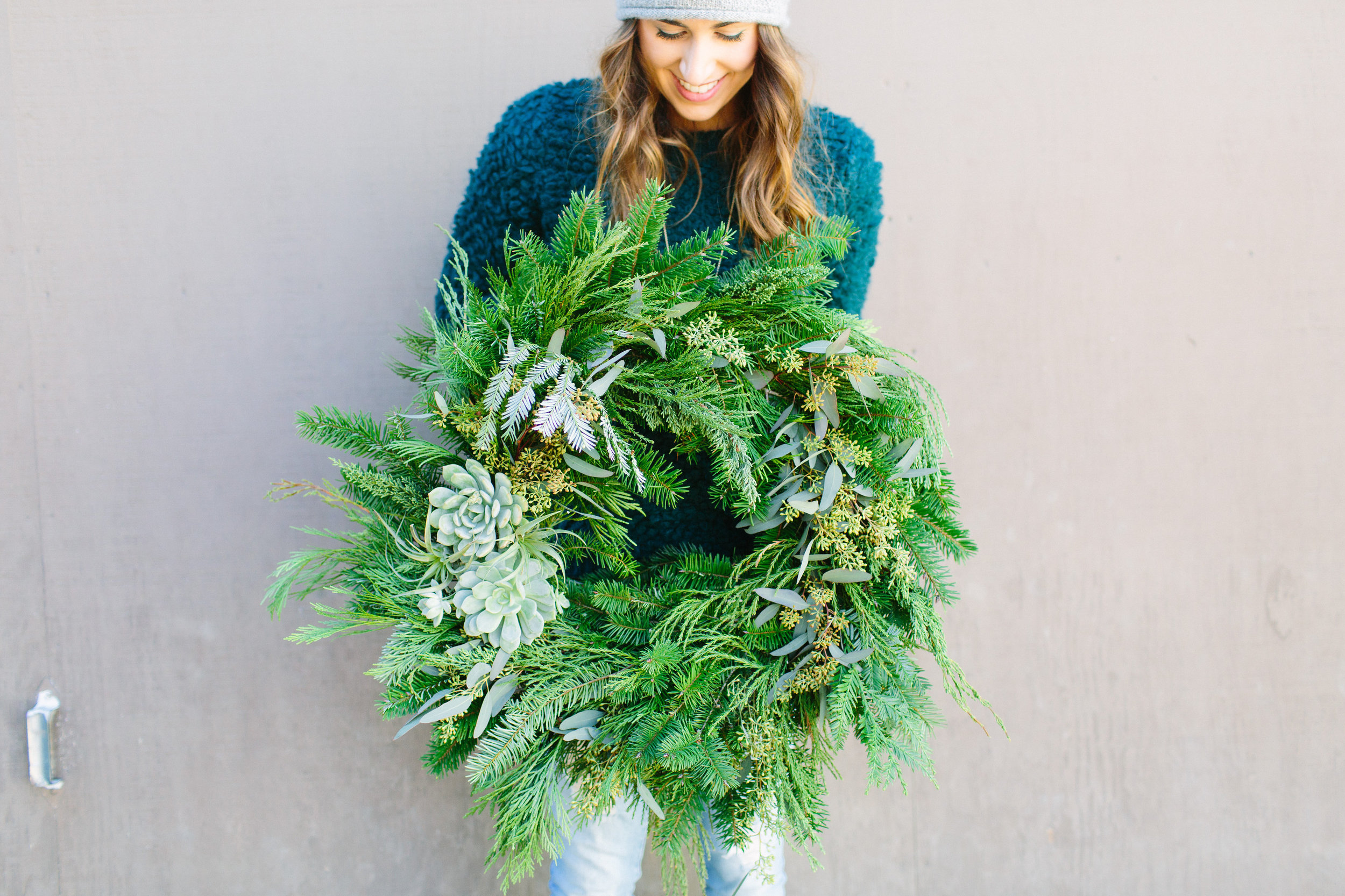 holiday succulent wreath