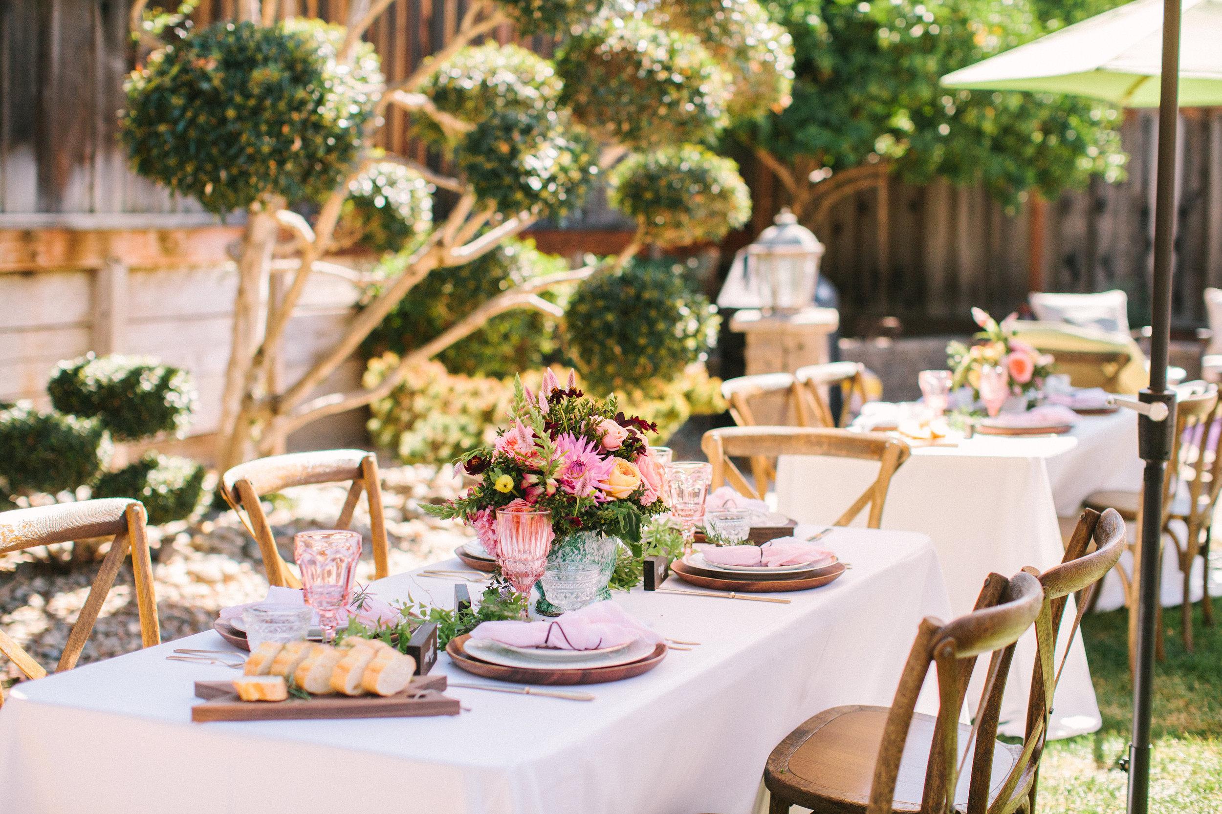Rosé Inspired Bridal Shower lunch