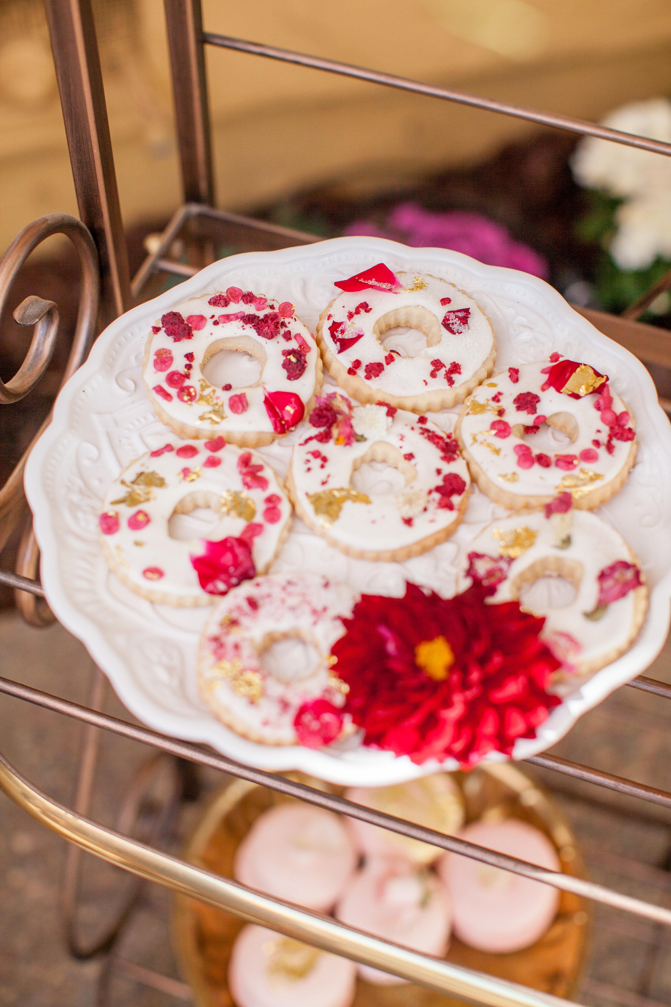 Rosé Inspired Bridal Shower desserts