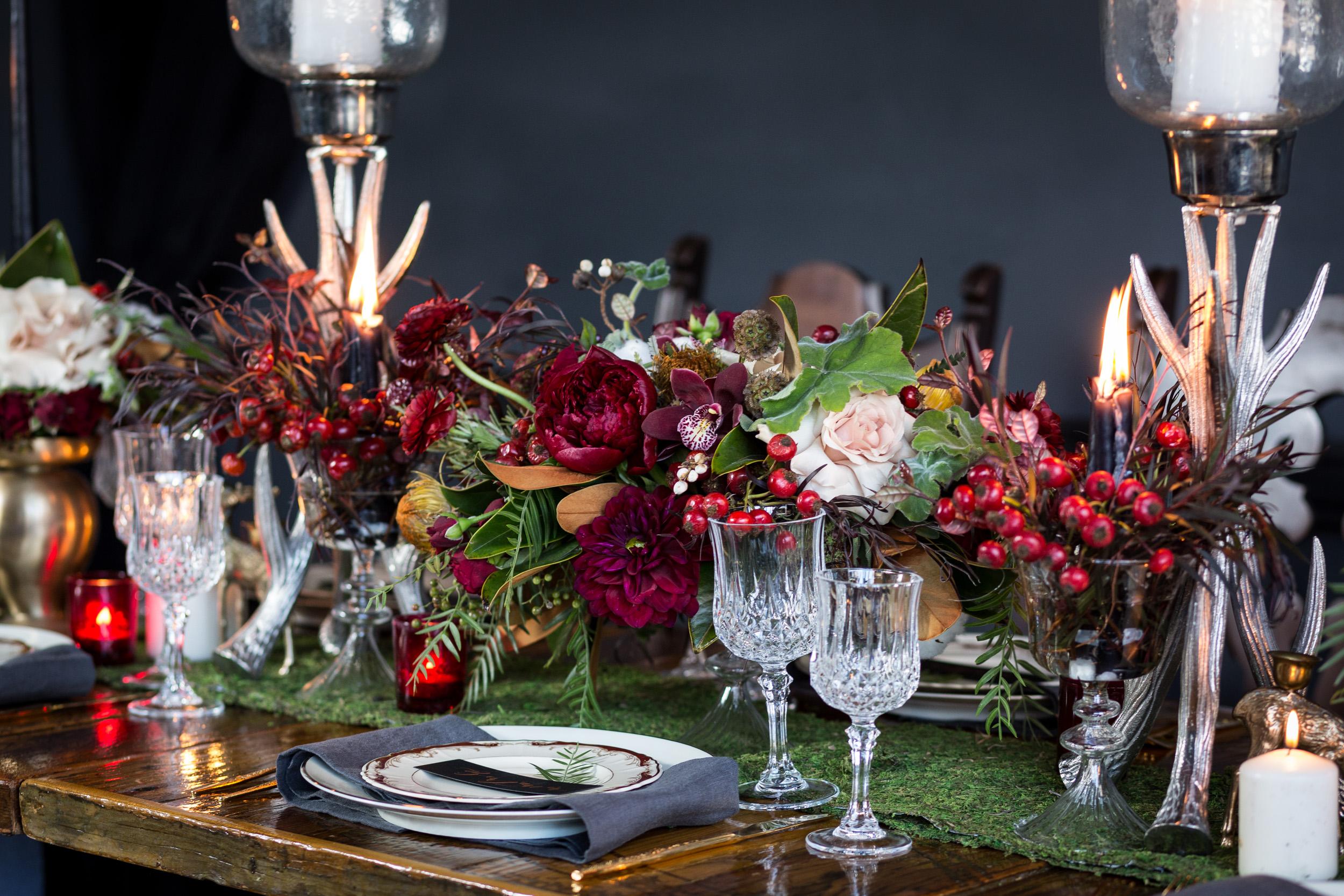 Dark wedding floral inspiration