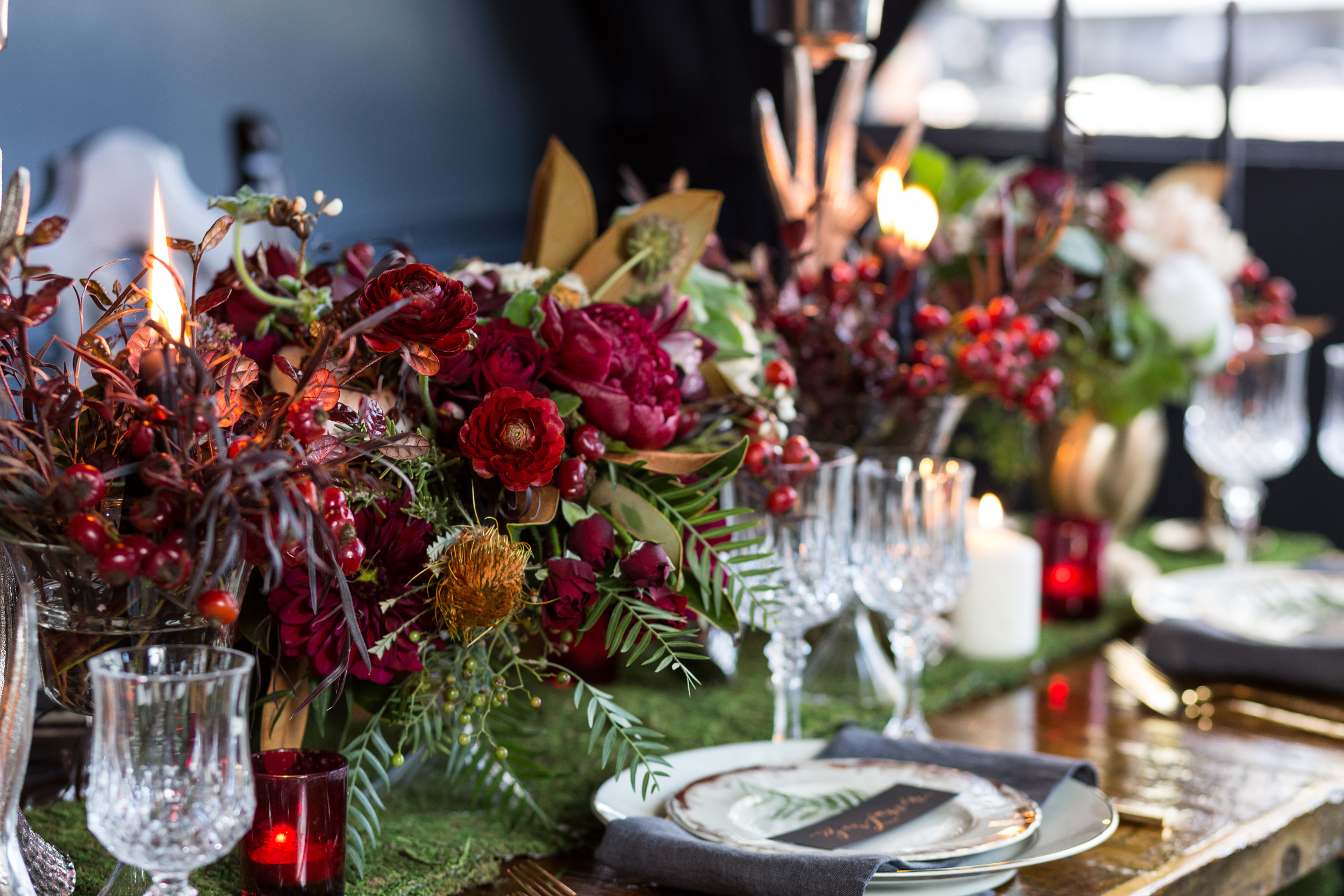 Deep red wine wedding inspiration