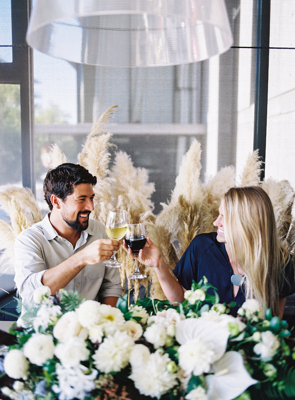 Intimate and modern rehearsal dinner