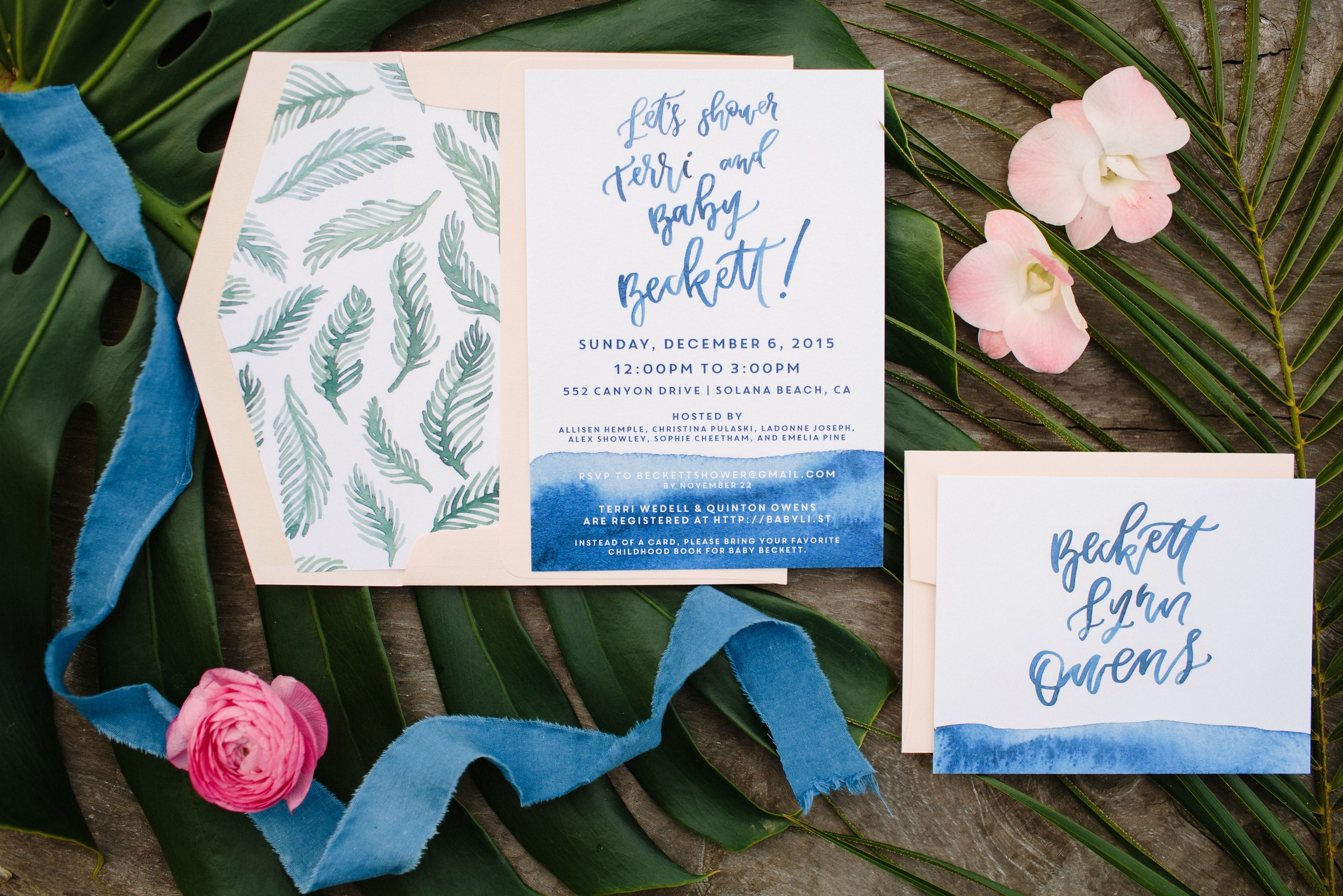 Tropical Indigo Baby Shower Le