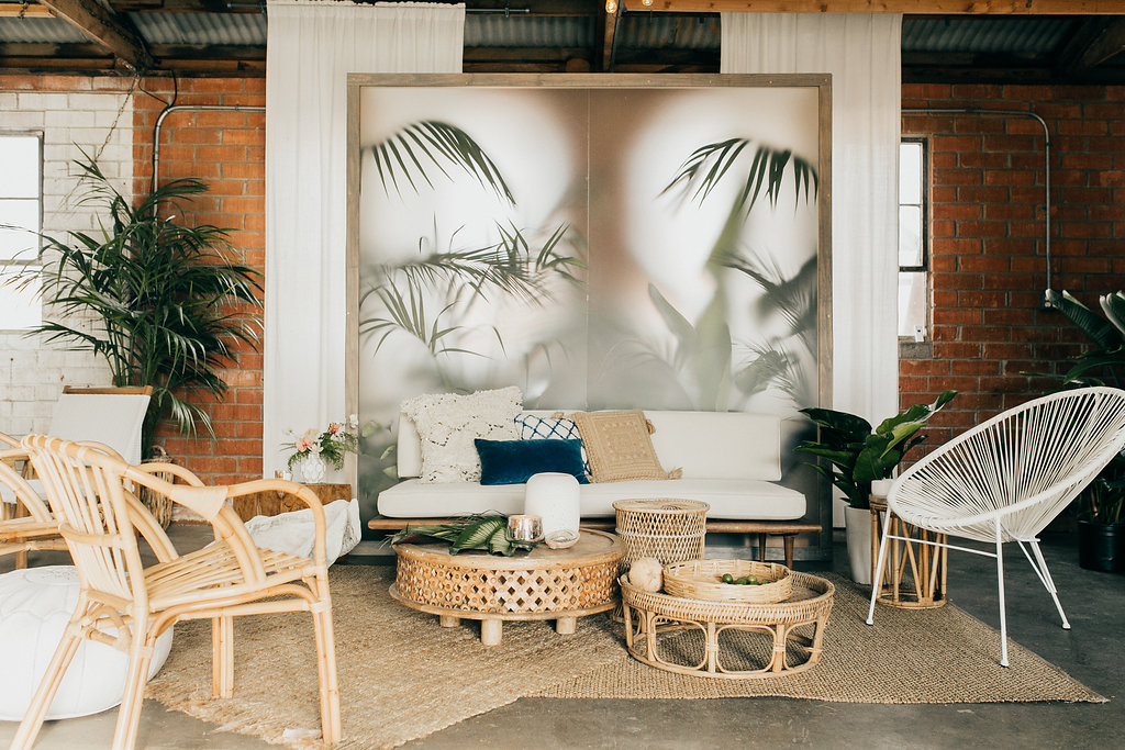 Chic tiki backdrop
