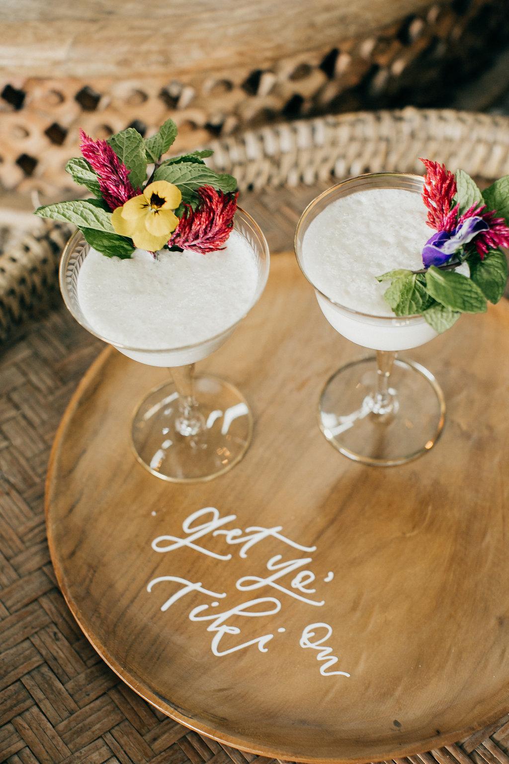 Modern tiki cocktails