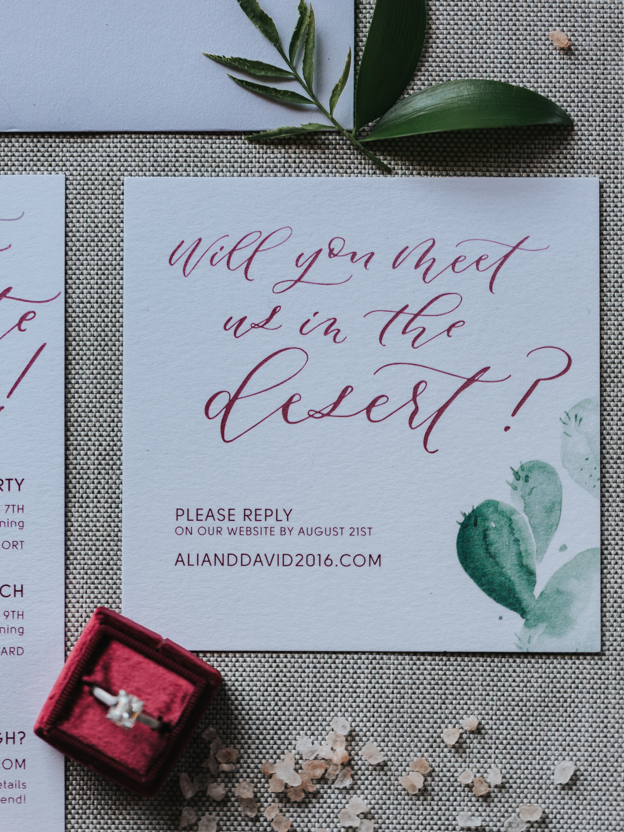 palm springs invitations rsvp