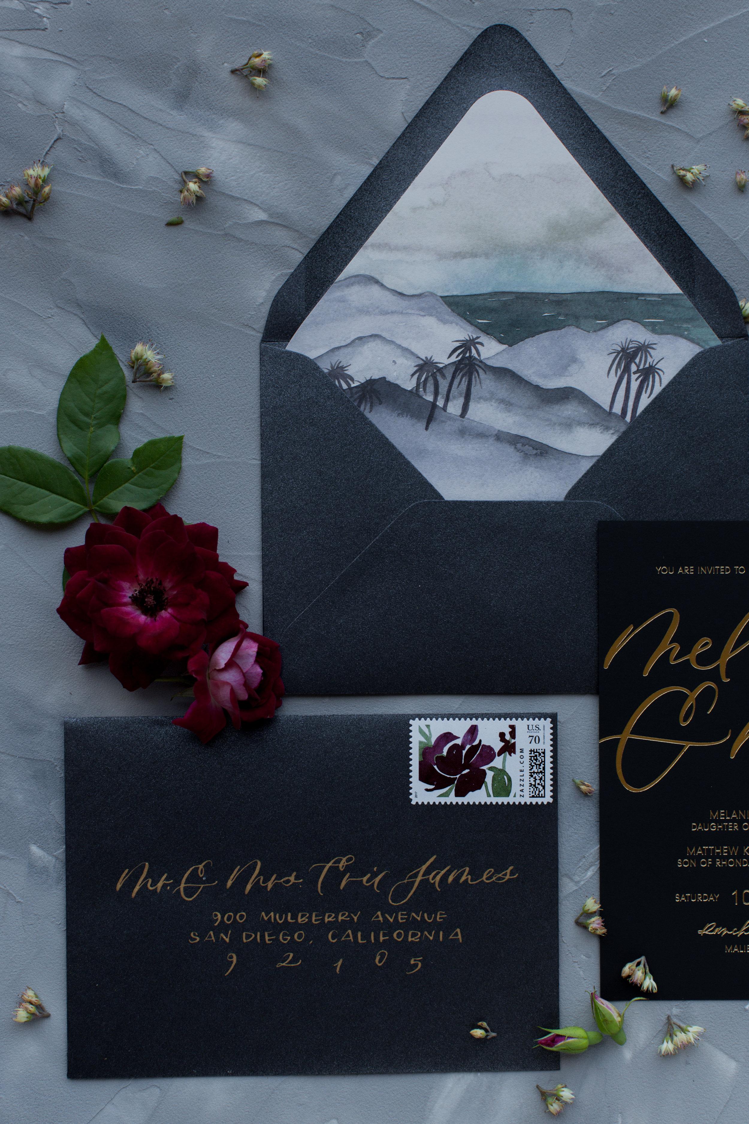 dark sunset envelope liner