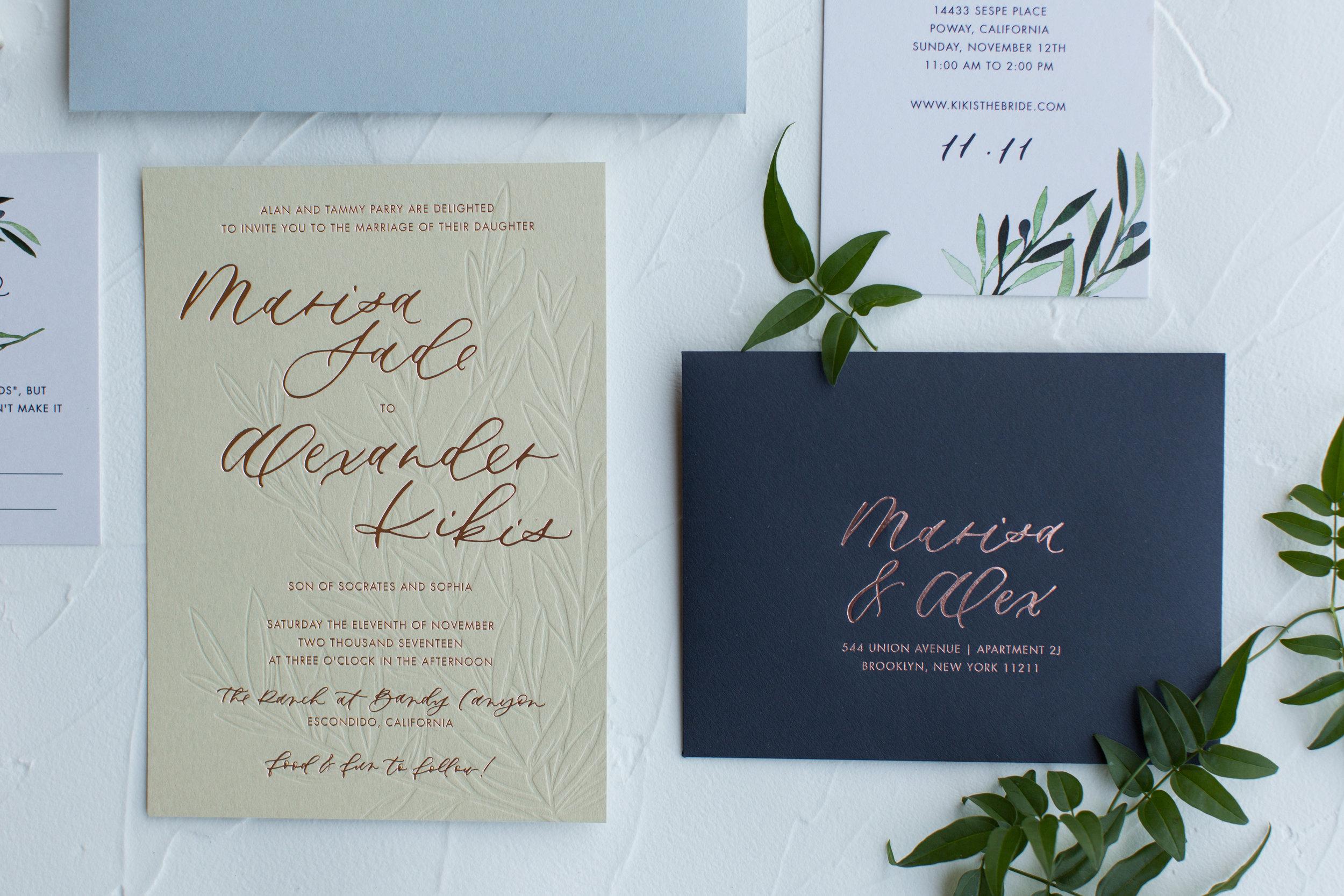 blind letterpress invitations
