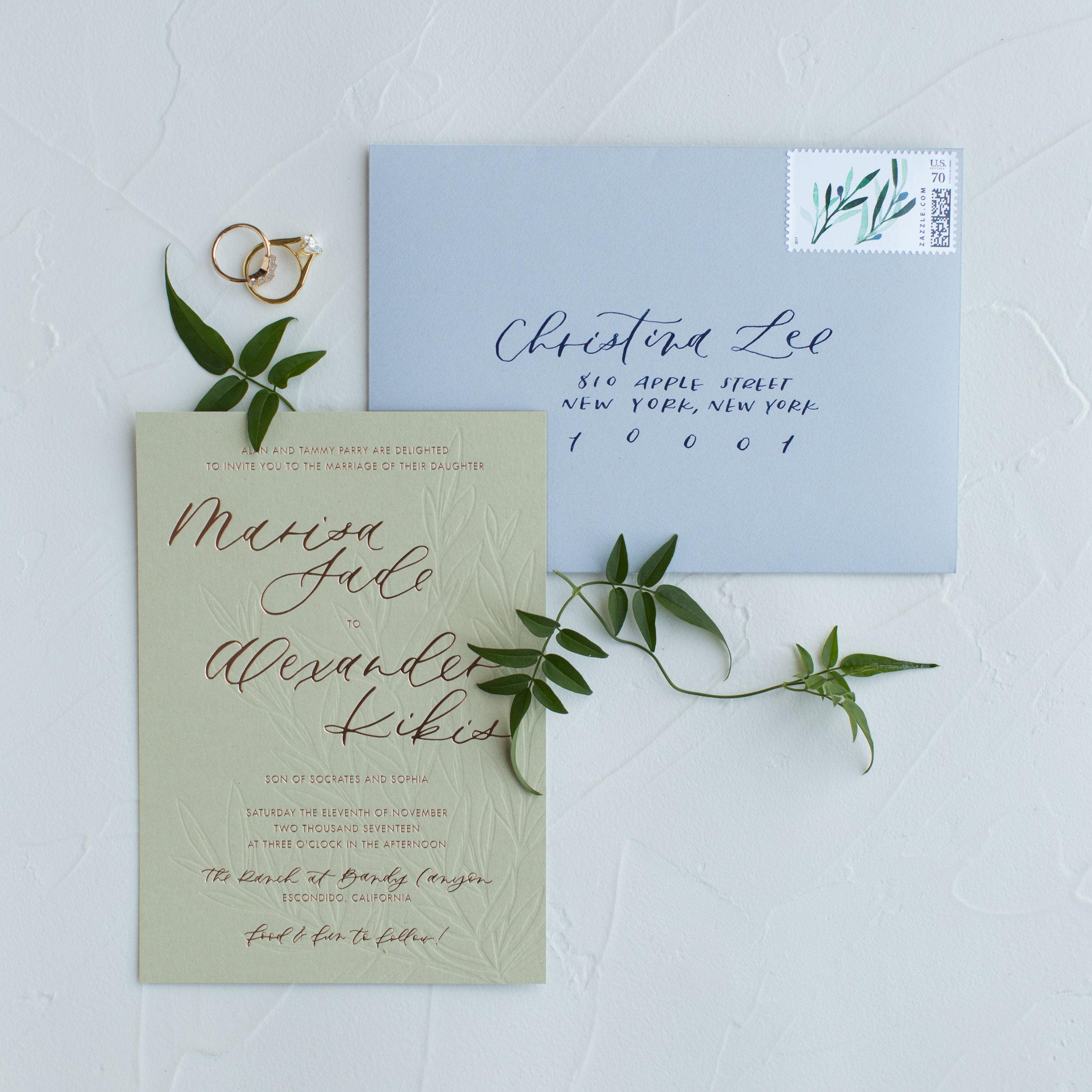 greek inspired wedding invitations