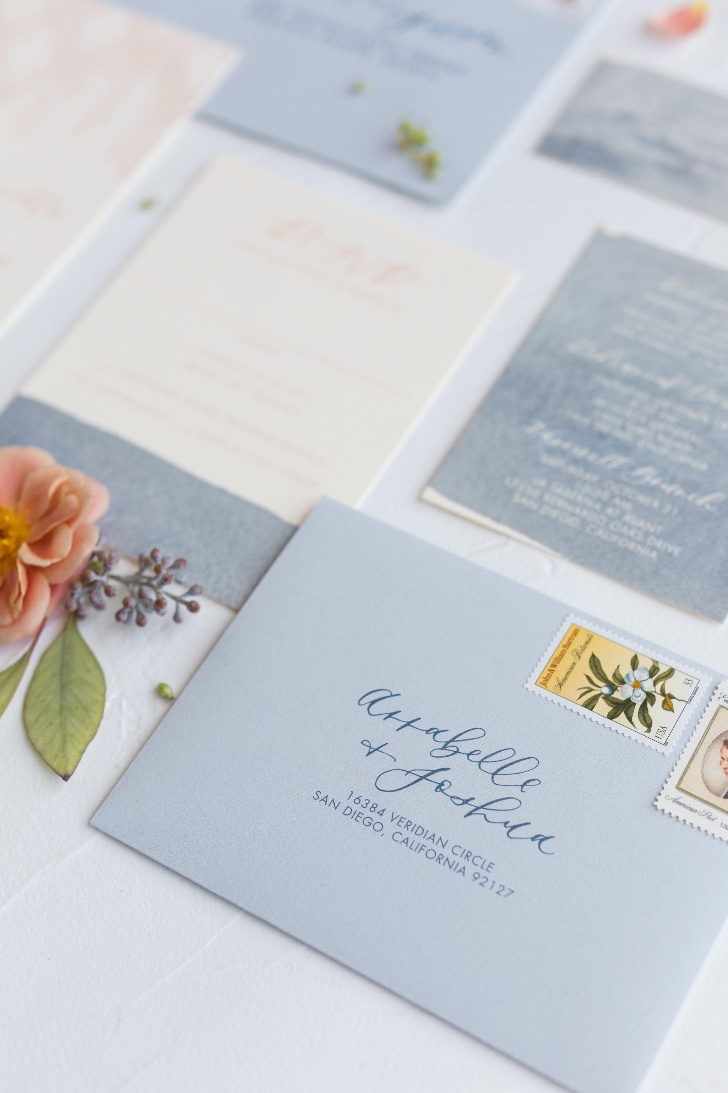 California wedding invitations