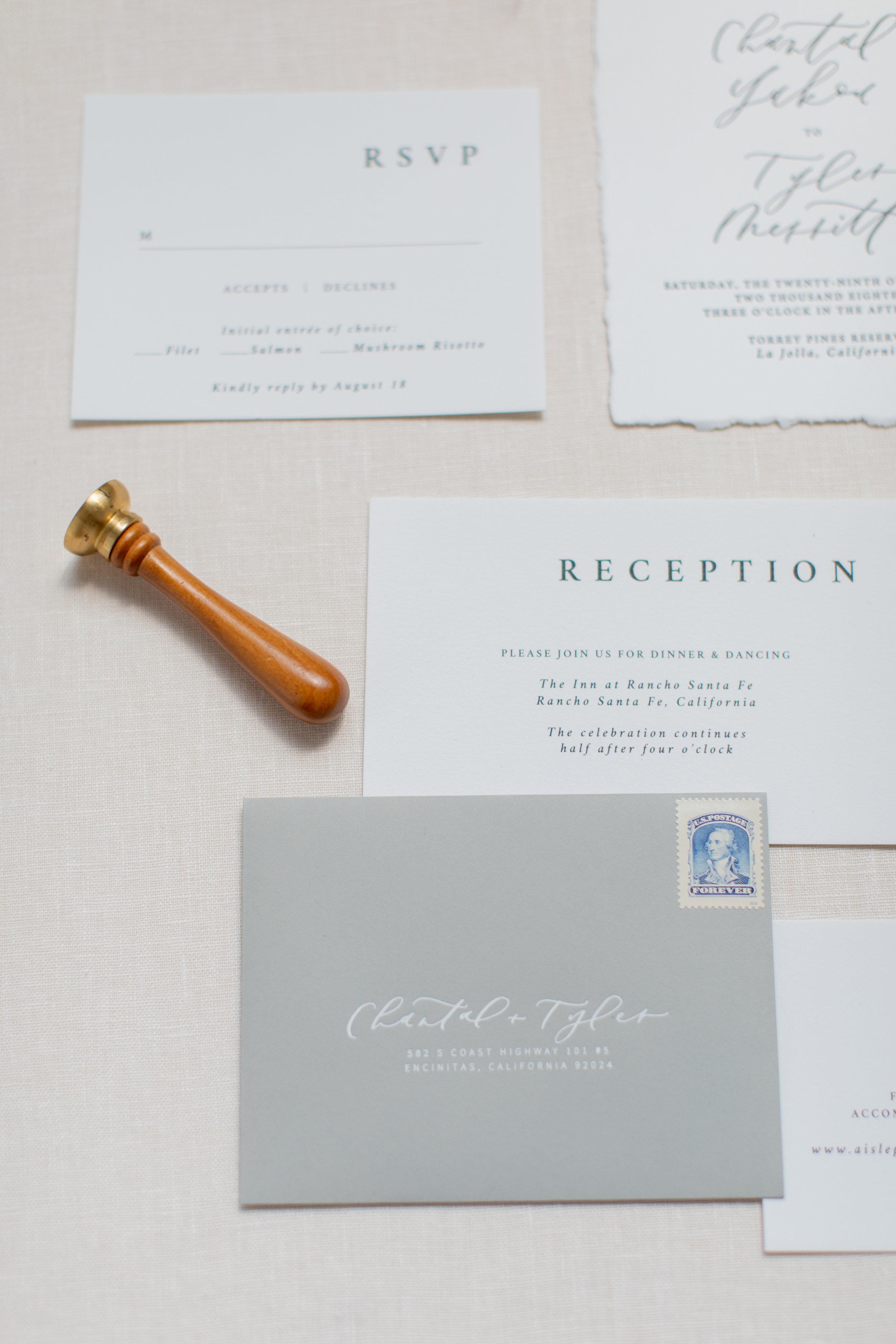Holographic foil wedding invitations